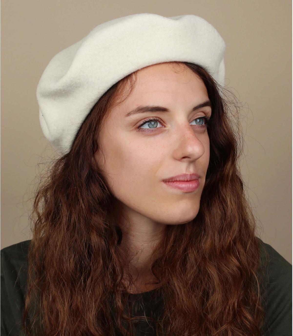Witte franse baret