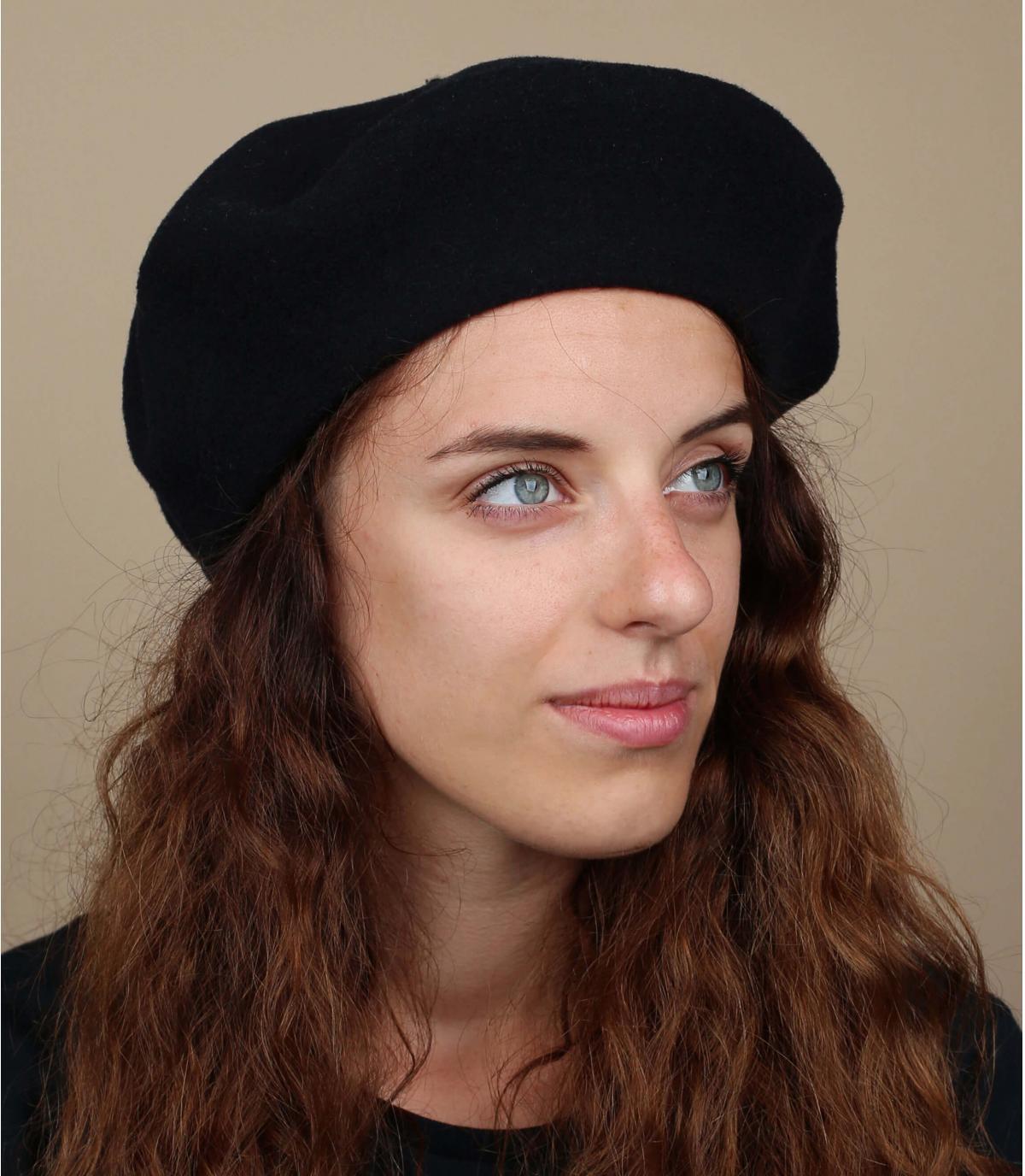 Donkerblauwe franse baret