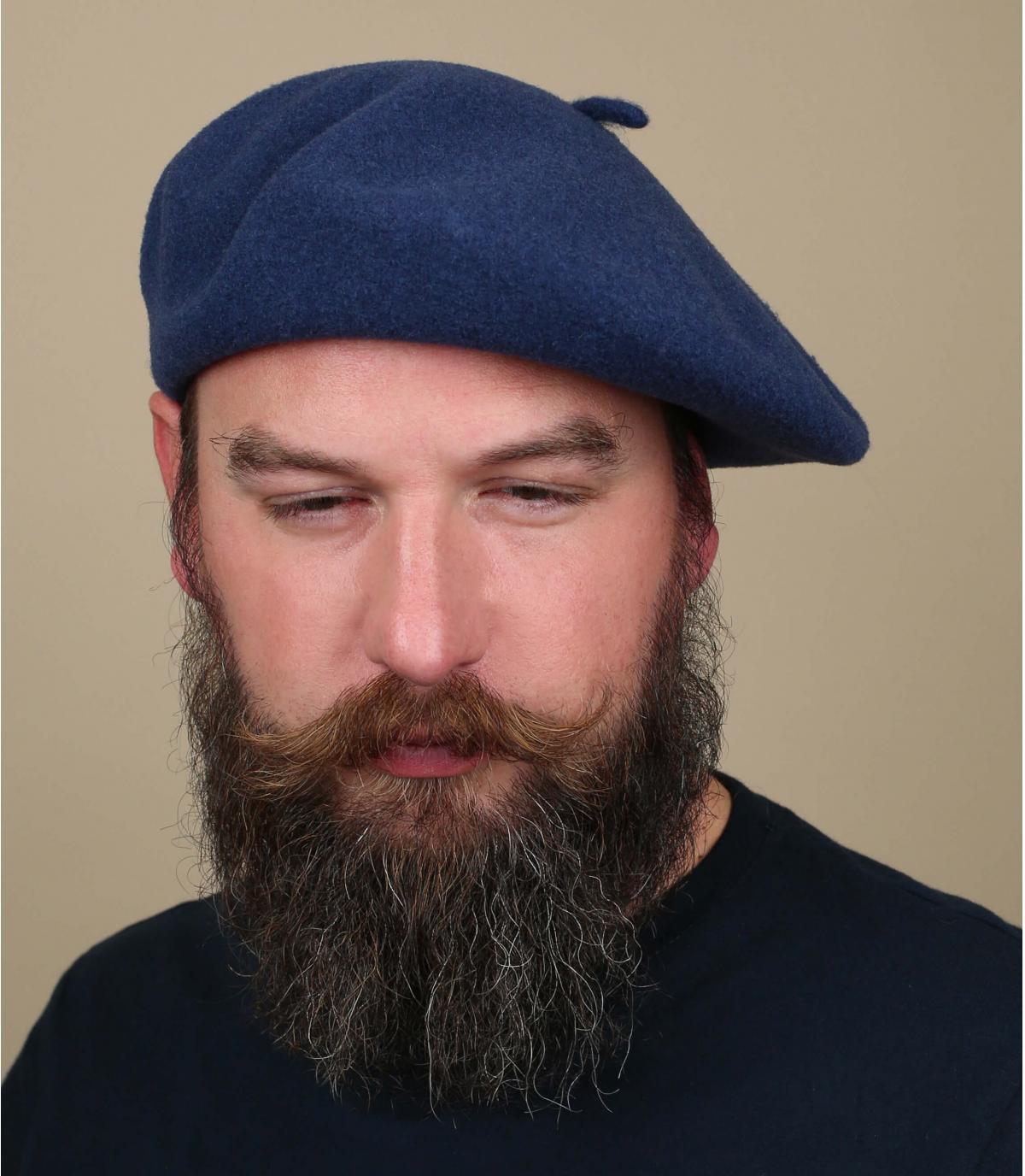 Denim franse baret