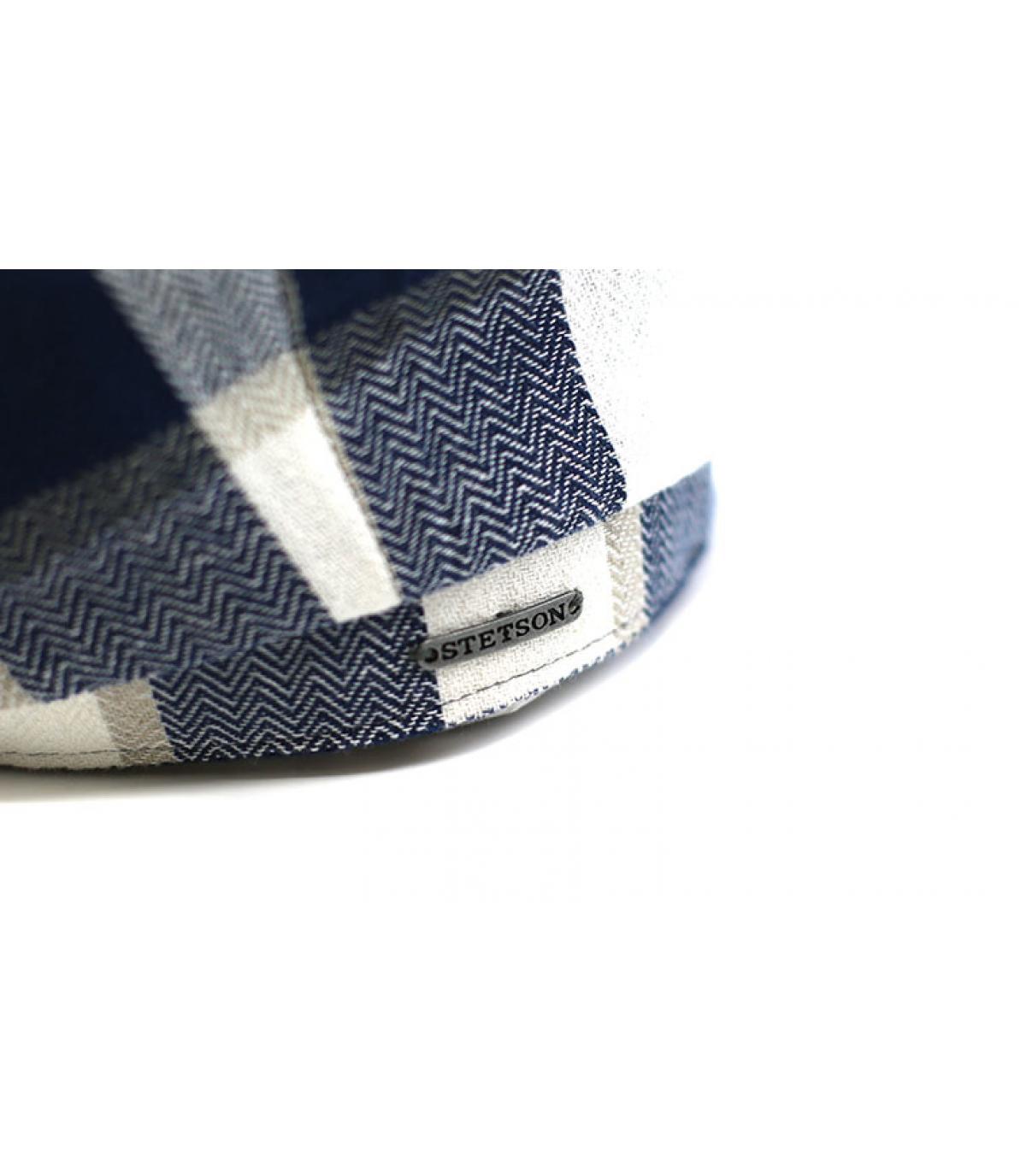 Details Hatteras Linen Check beige blue - afbeeling 3
