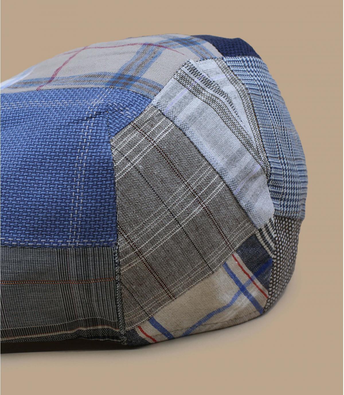 beige patchwork baret