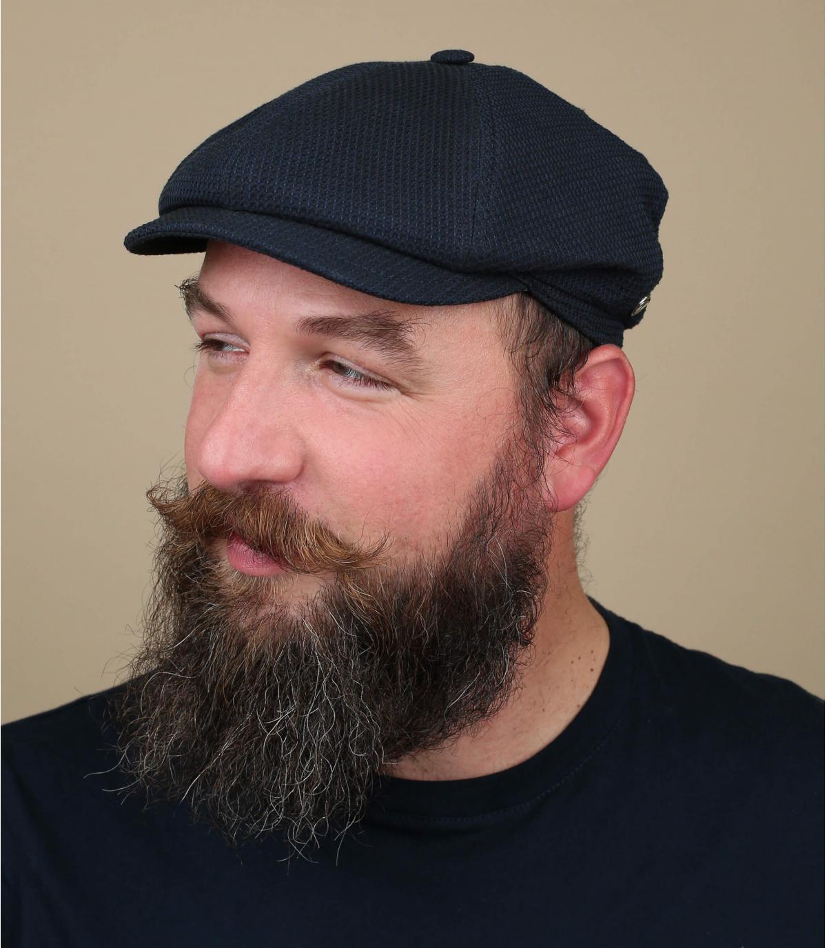 blauwe baret baret