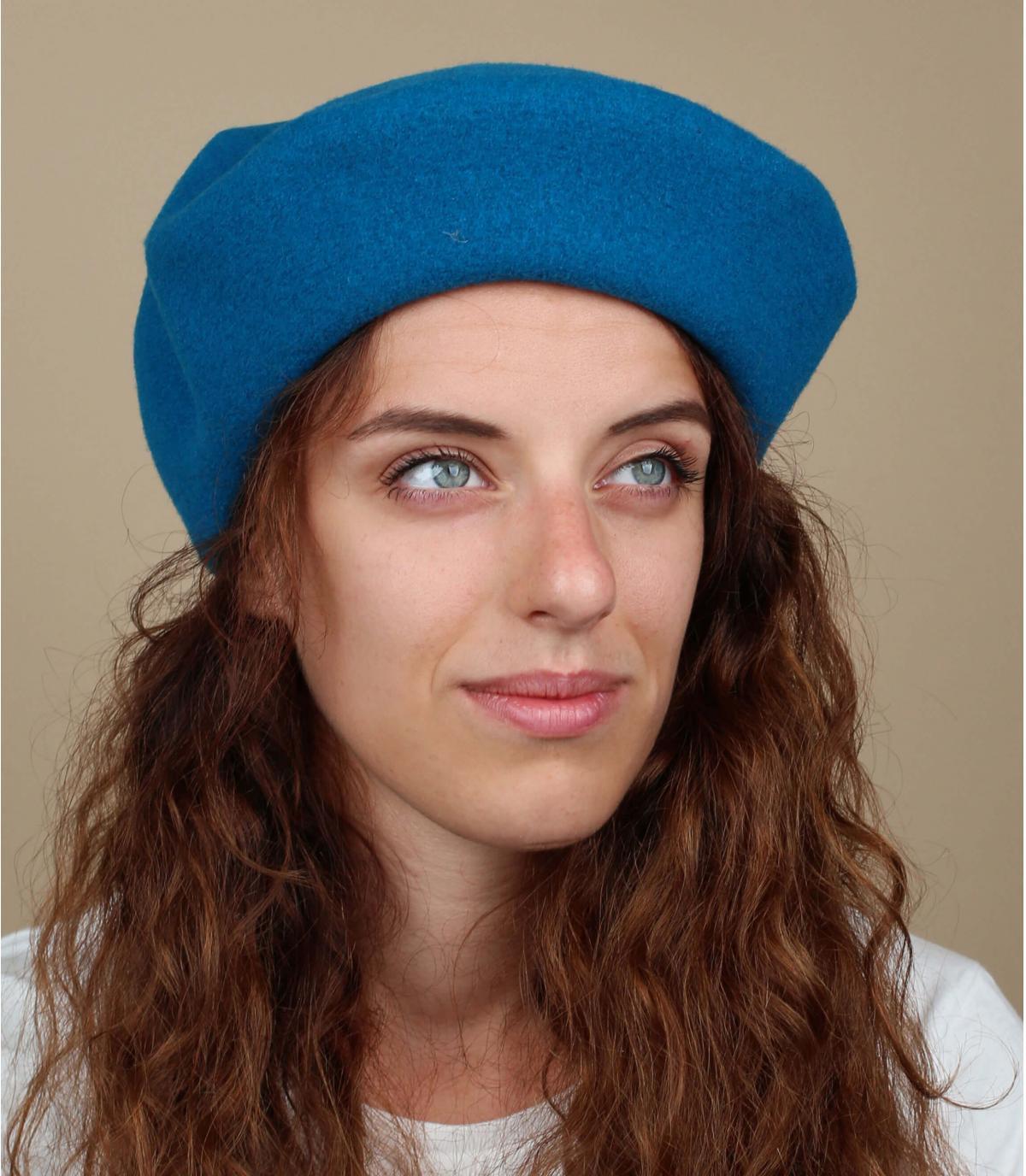 Blauwe franse baret