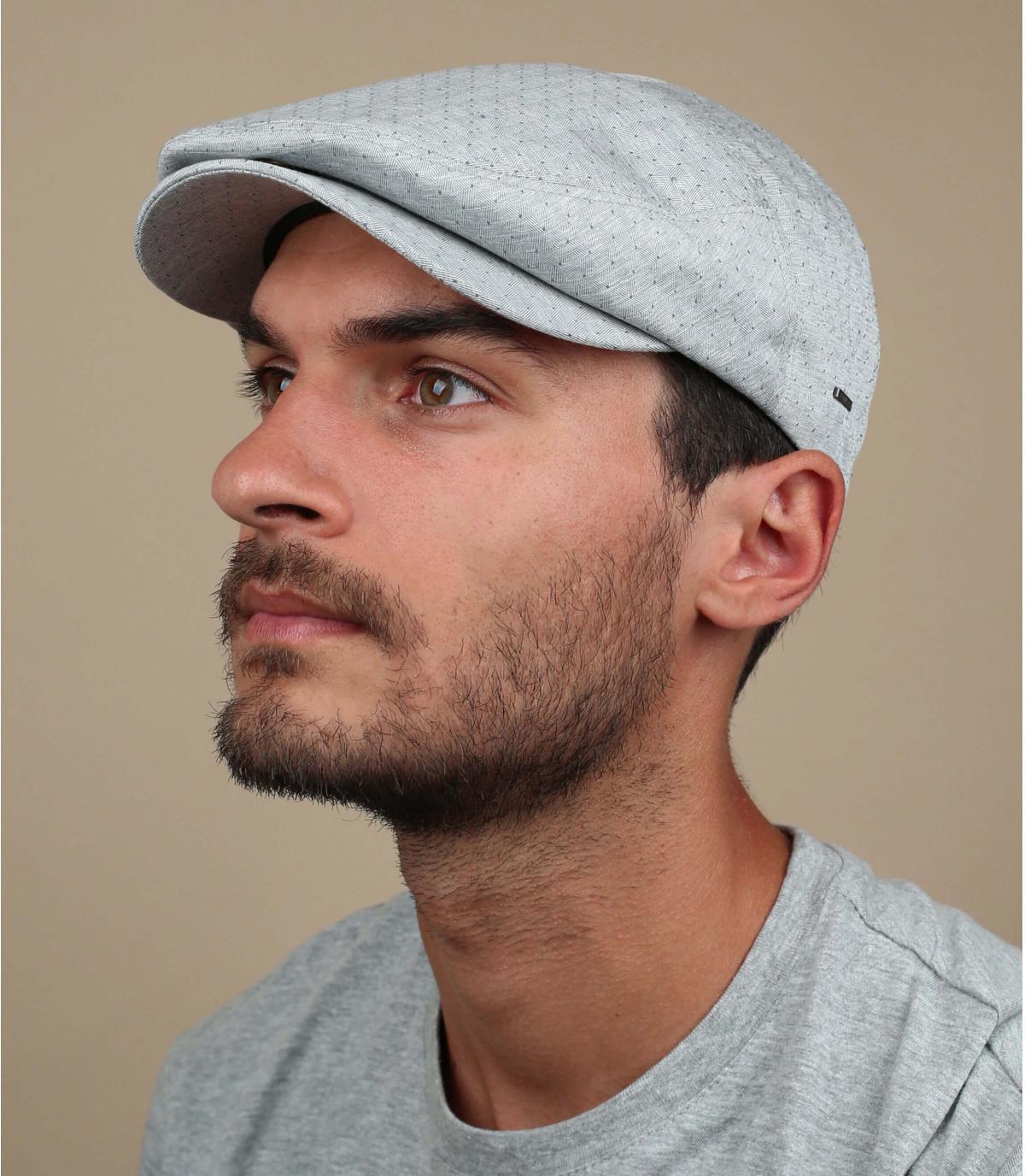 katoenen grijze baret
