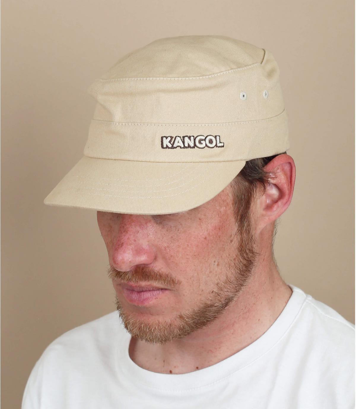 beige leger cap Kangol