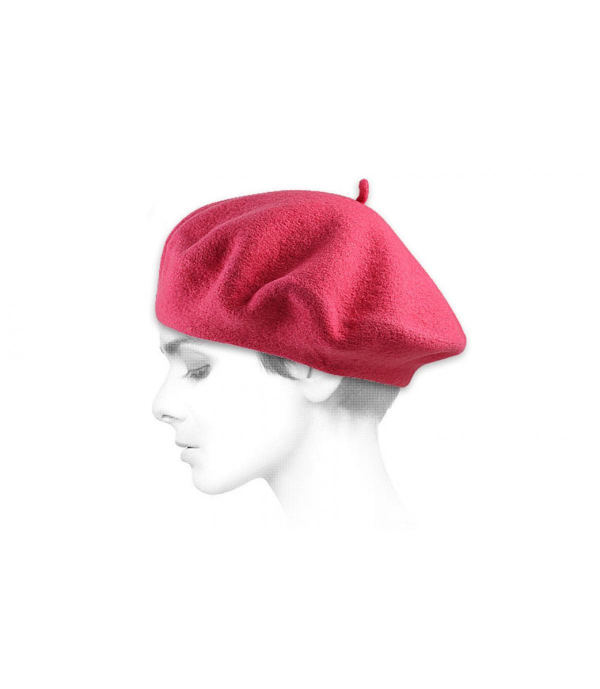 Roze franse baret