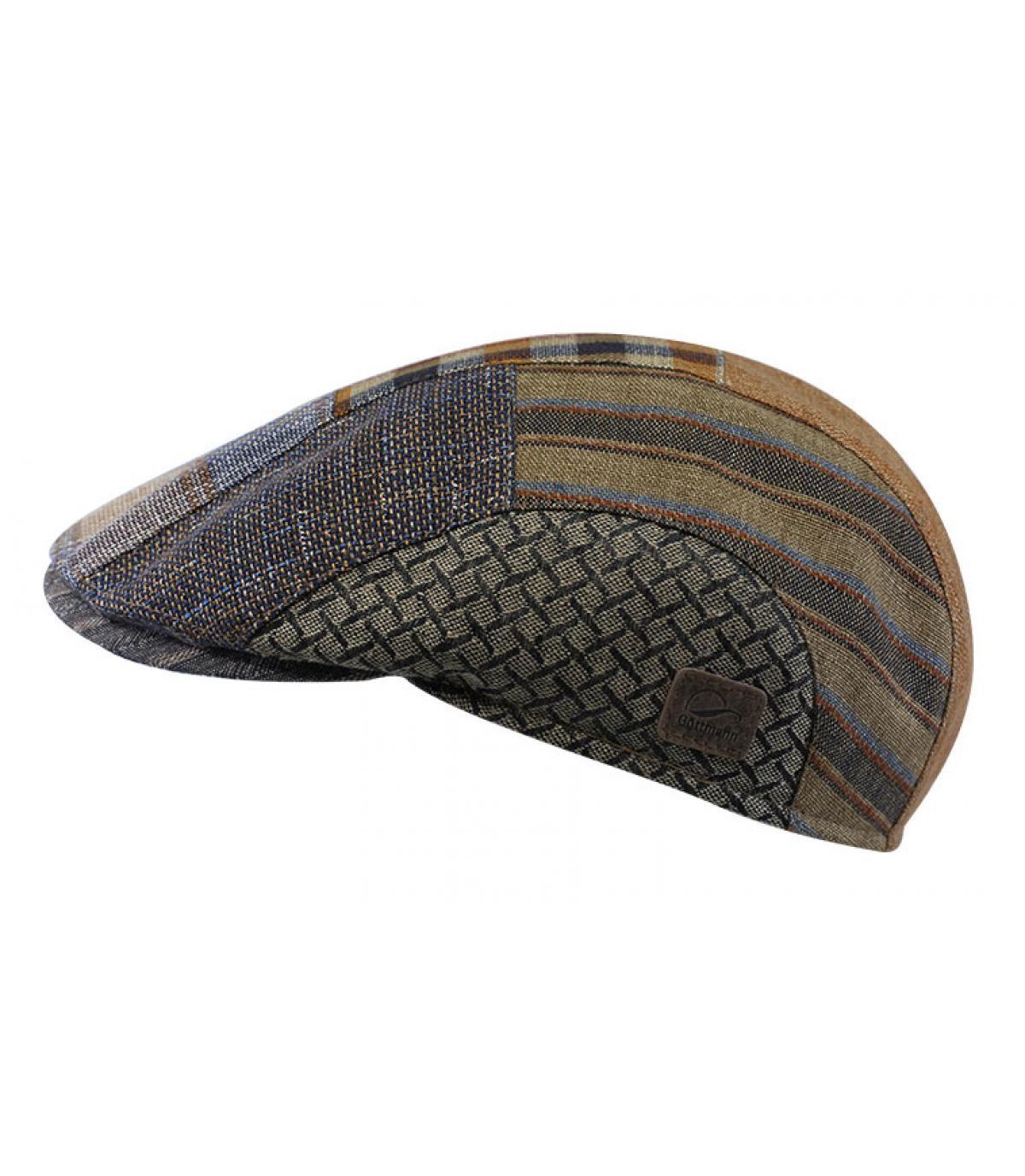 linnen patch baret