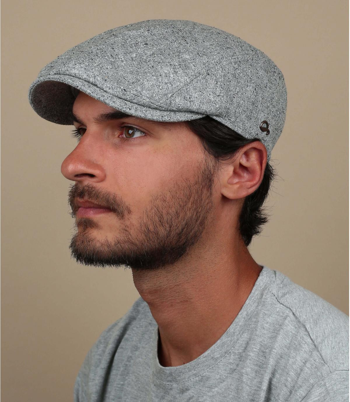zijden grijze baret