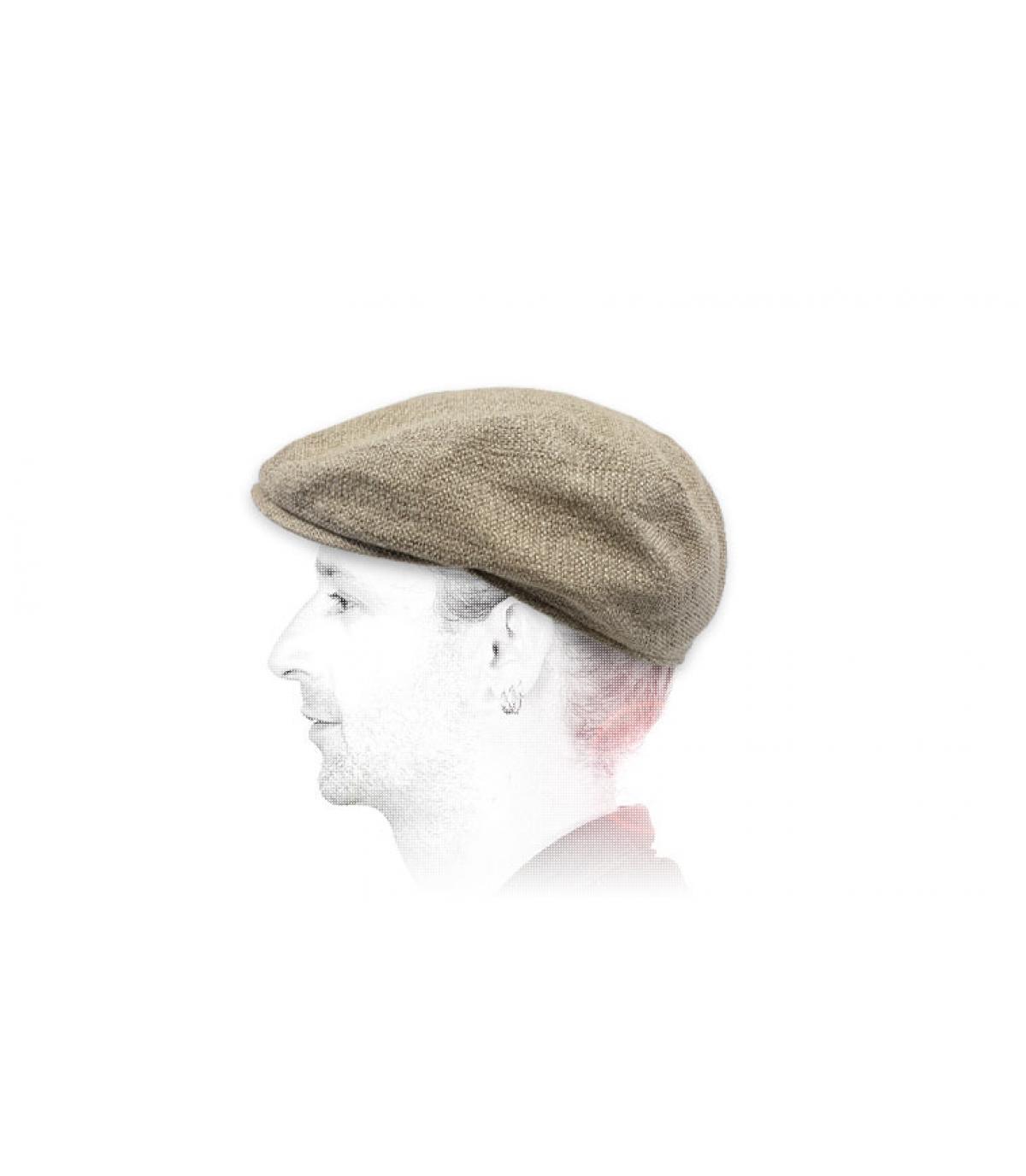 linnen beige baret