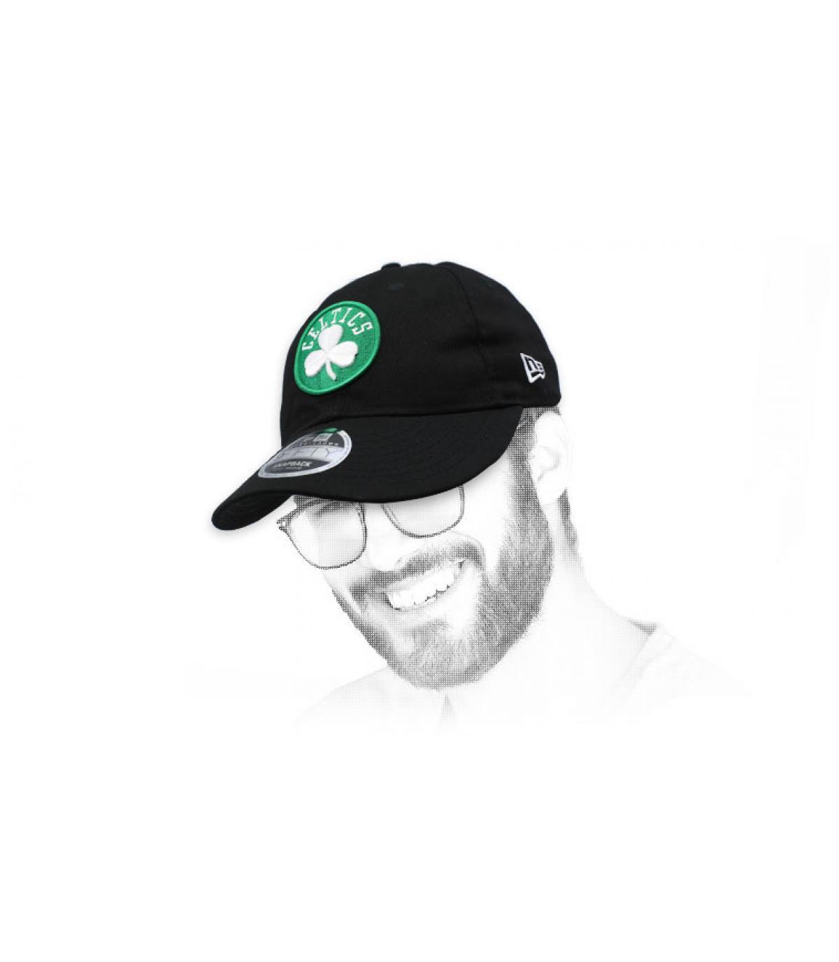 retro zwarte snapback van Celtics