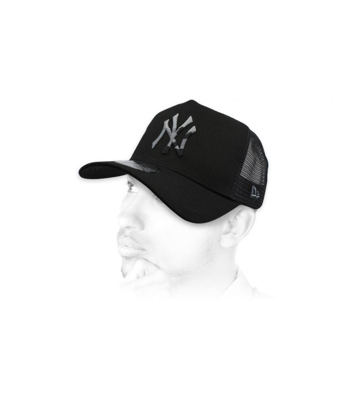 zwarte trucker NY camo