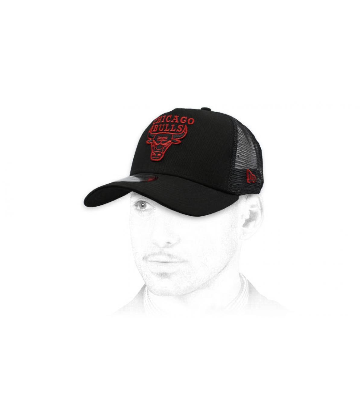 trucker Bulls zwart rood