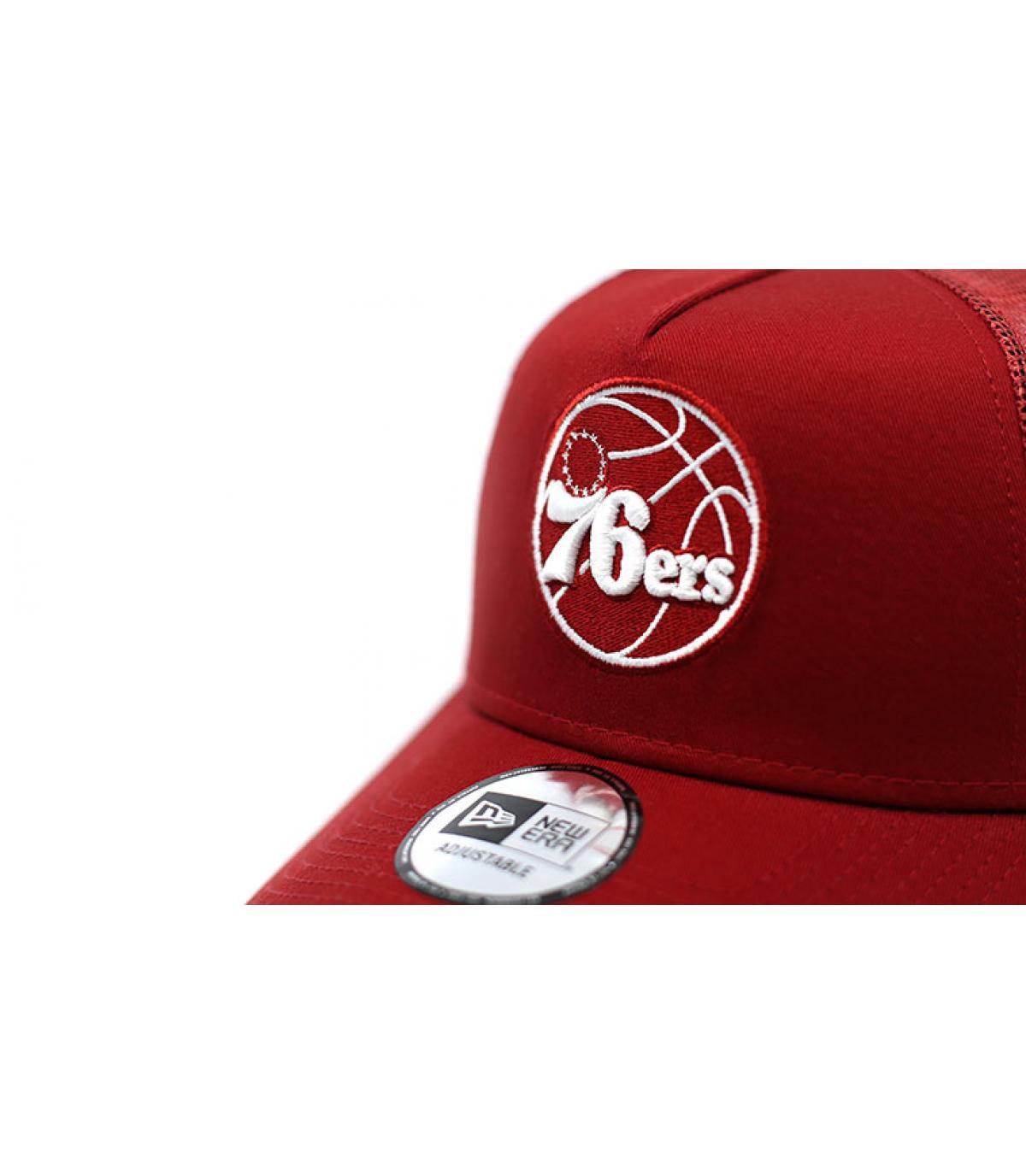 Details Trucker NBA Ess 76ERS red - afbeeling 3