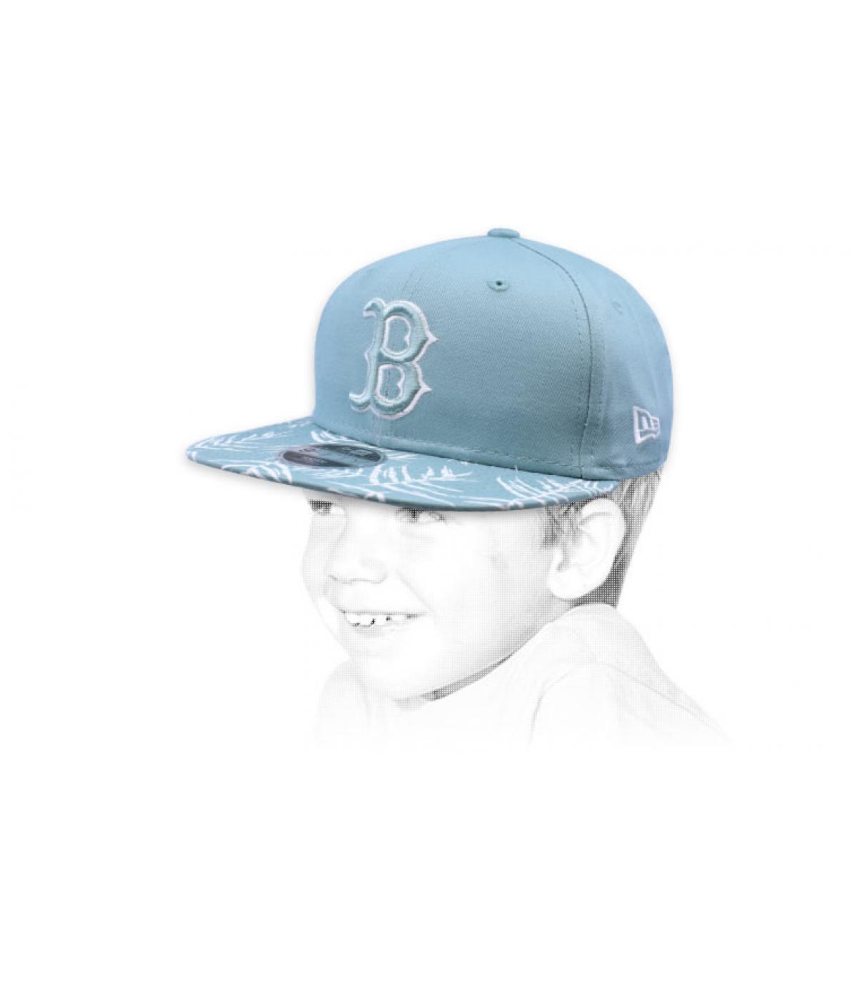 babyblauwe snapback B