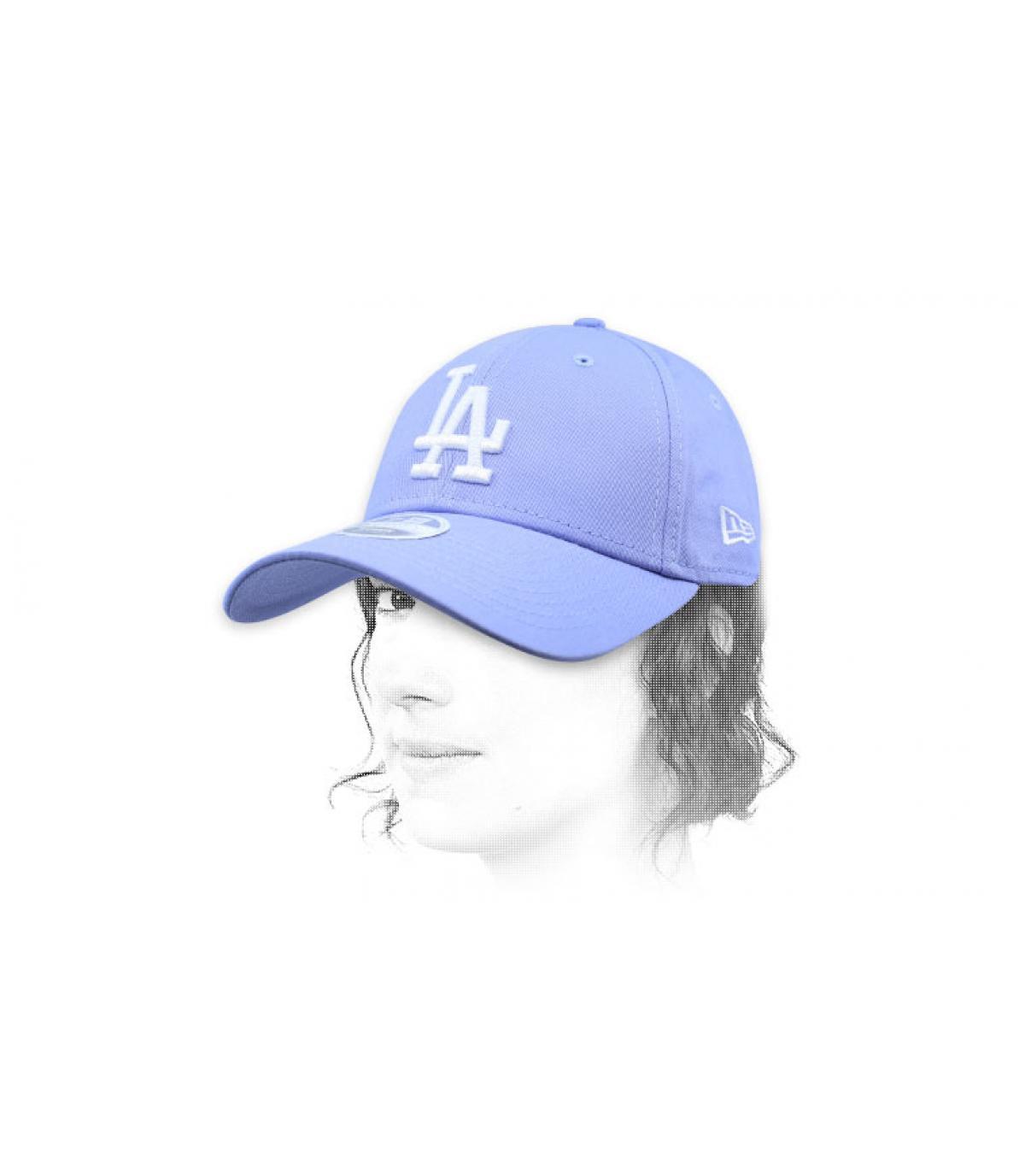 LA vrouwenpet in blauw