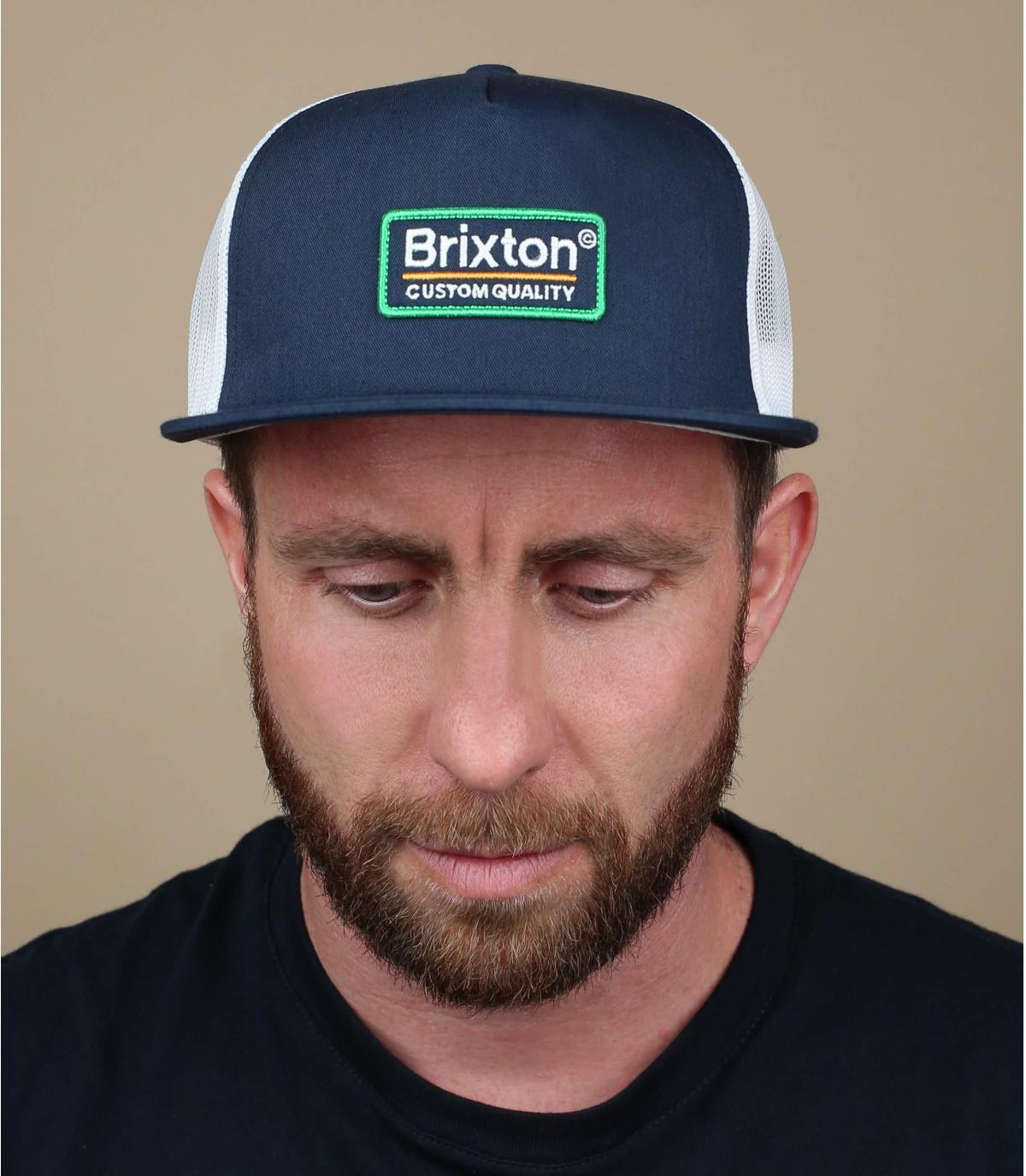 marineblauwe trucker Brixton