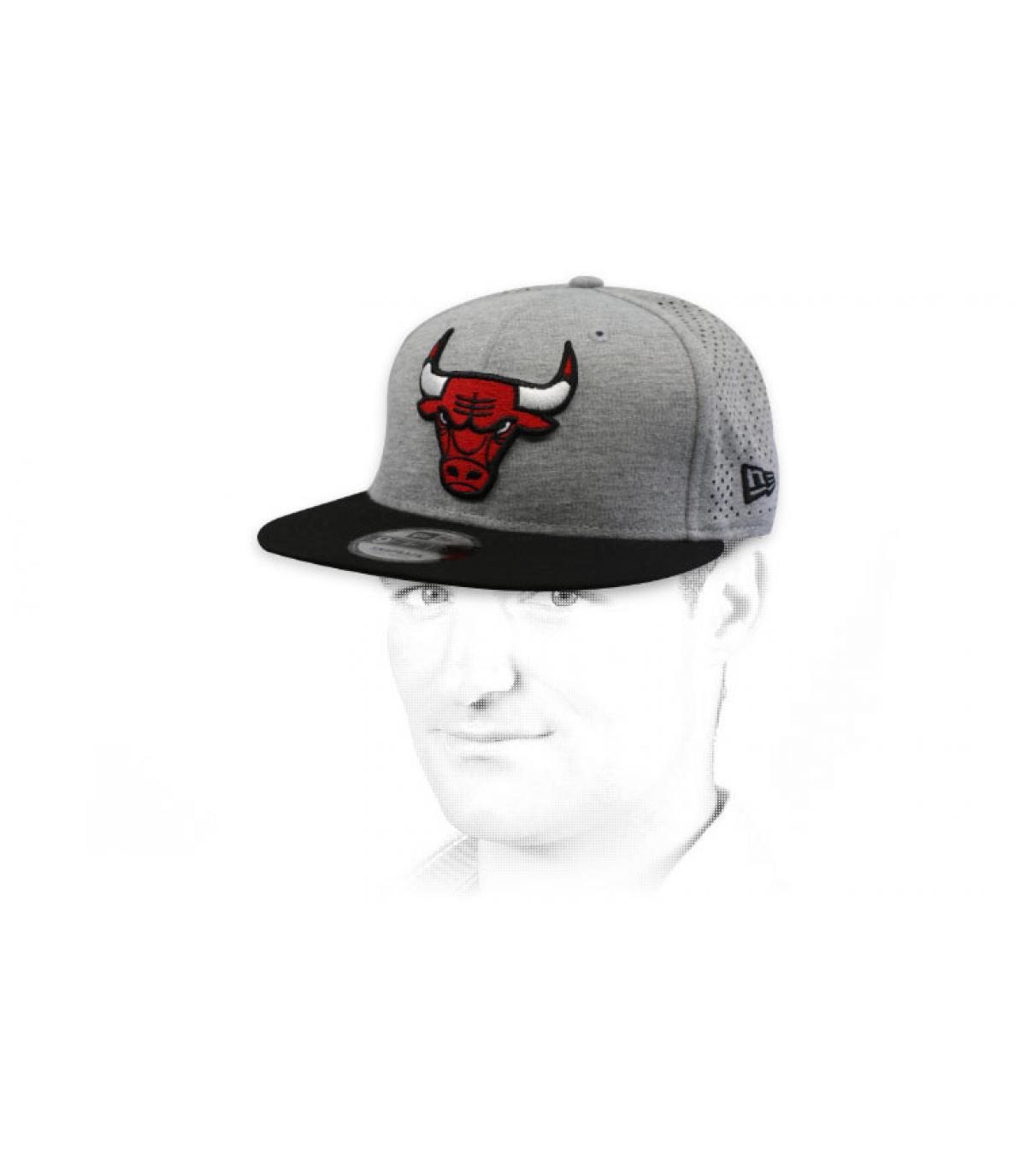 grijze Bulls snapback