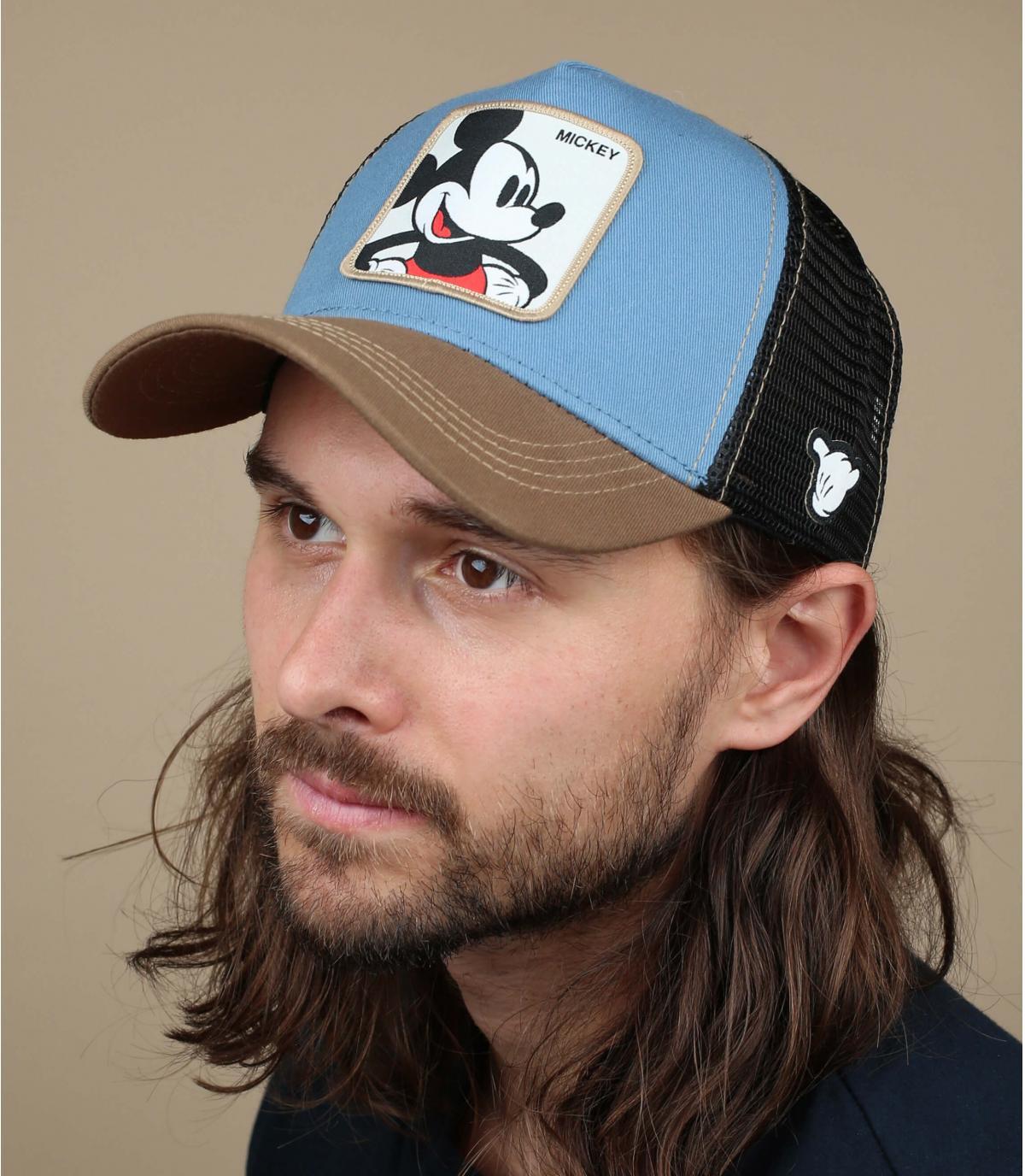 blauwe Mickey-trucker