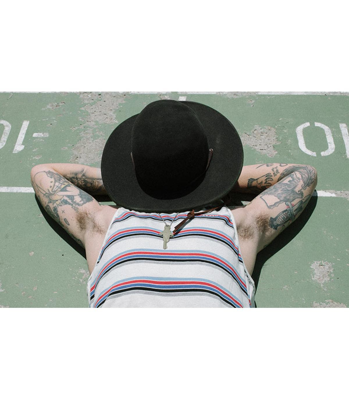 Details Tiller zwarte hoed - afbeeling 5