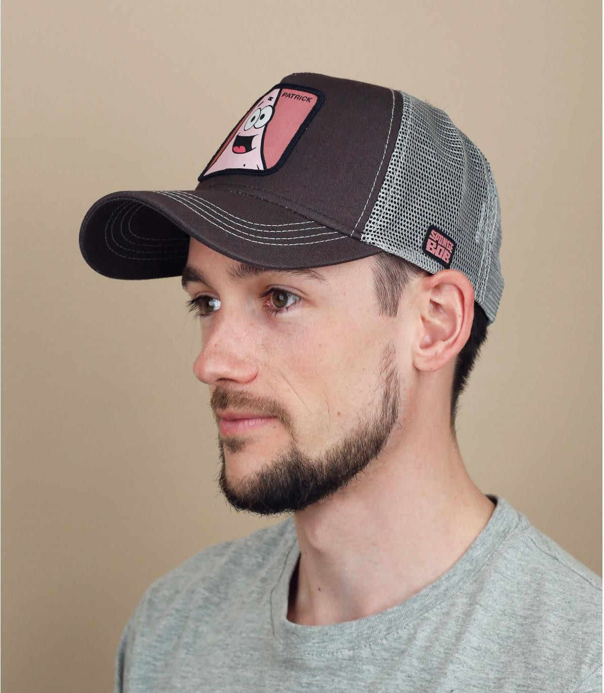 roze grijze trucker Patrick