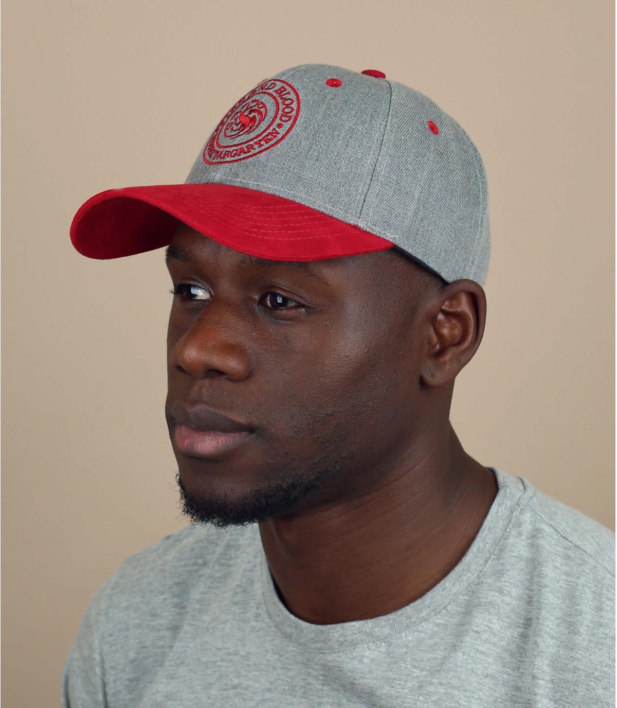 rood grijs Targaryen cap