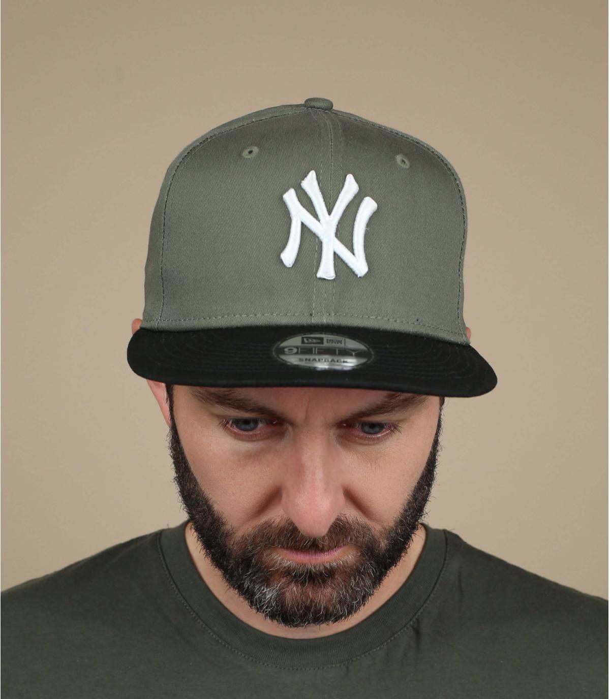 NY groene snapback