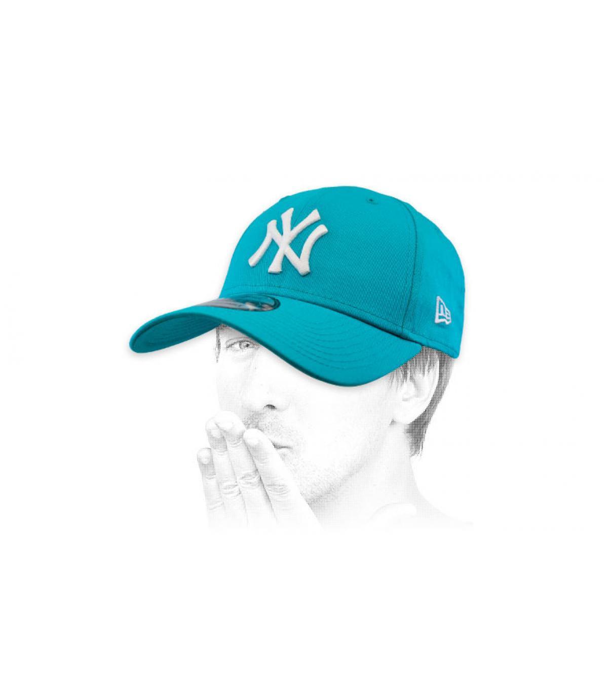 pet NY blauw wit