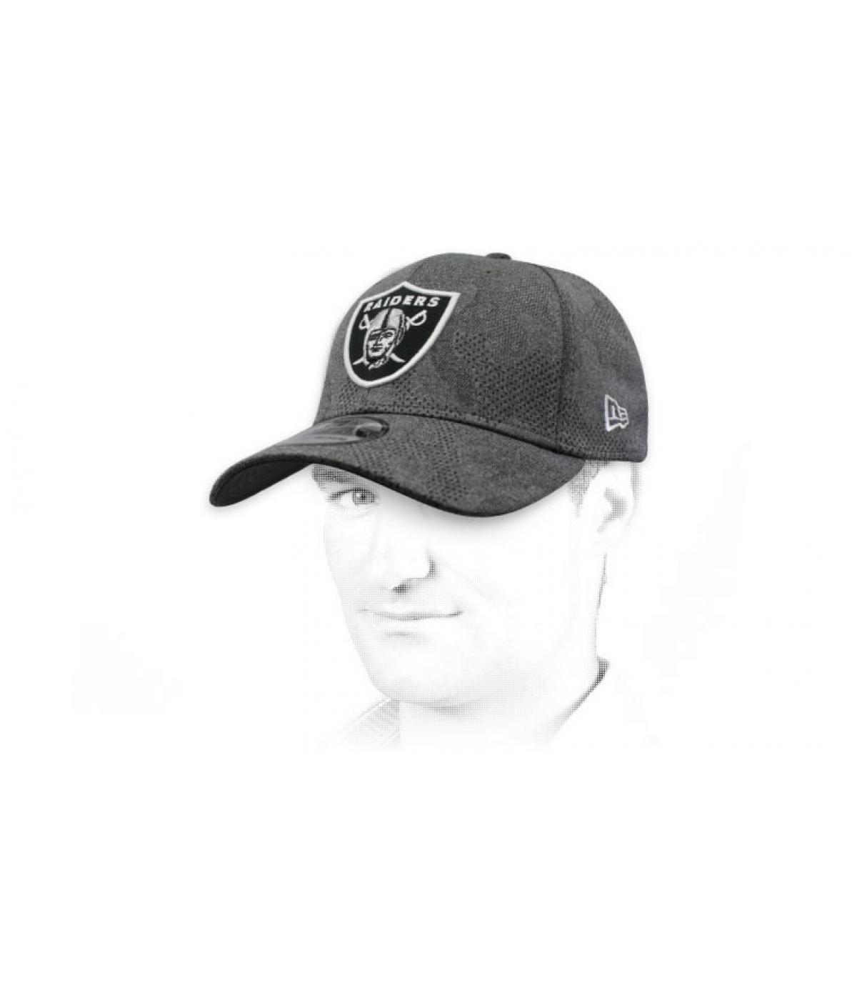 zwart grijs Raiders cap