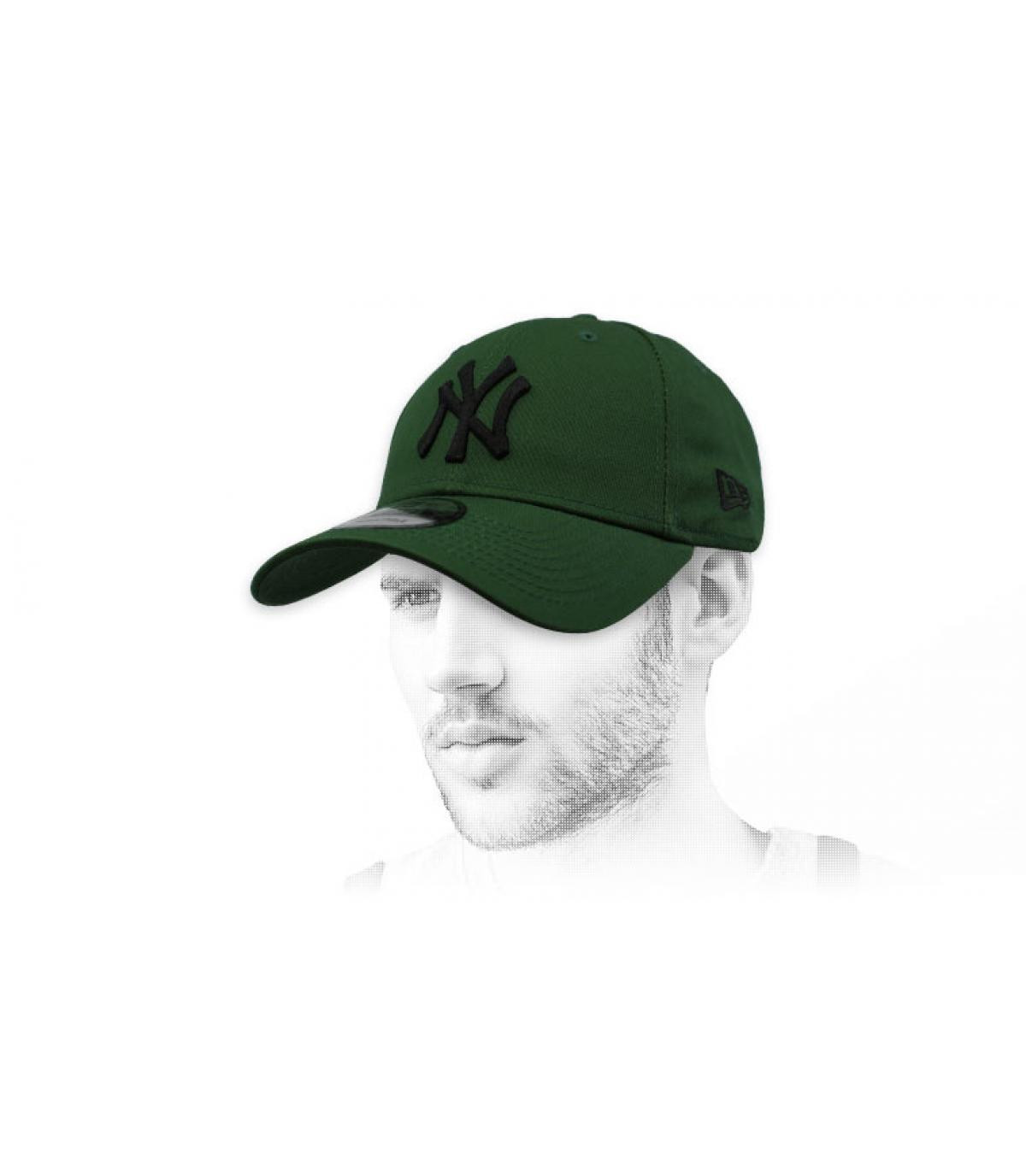 zwarte groene NY cap