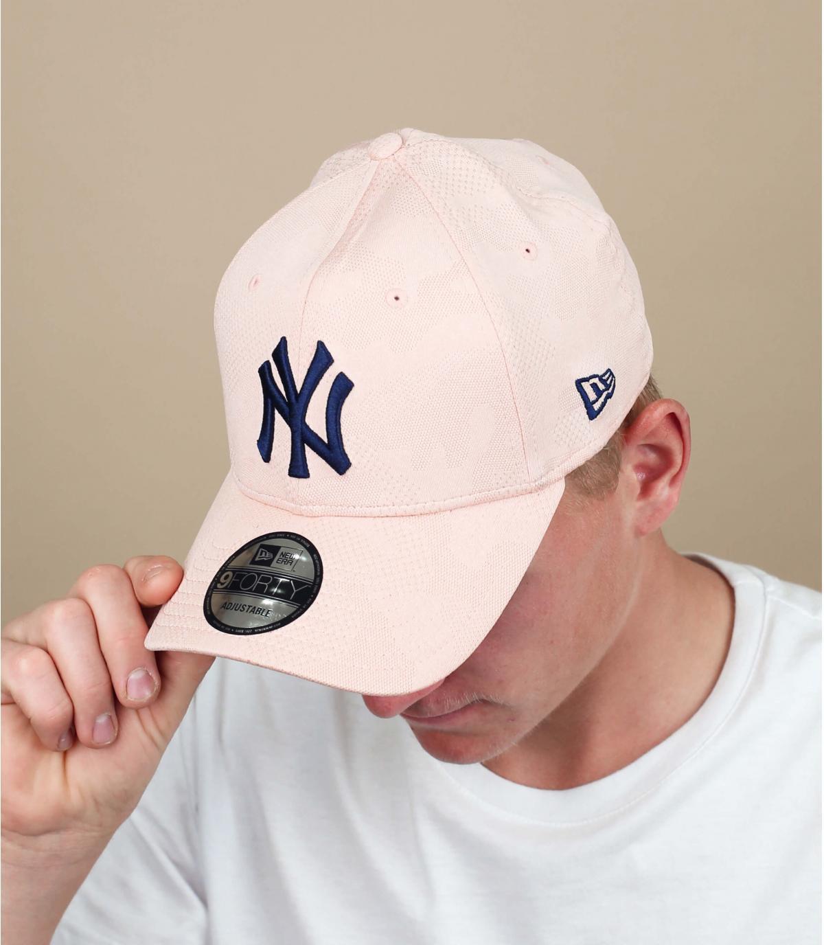 blauw roze NY cap