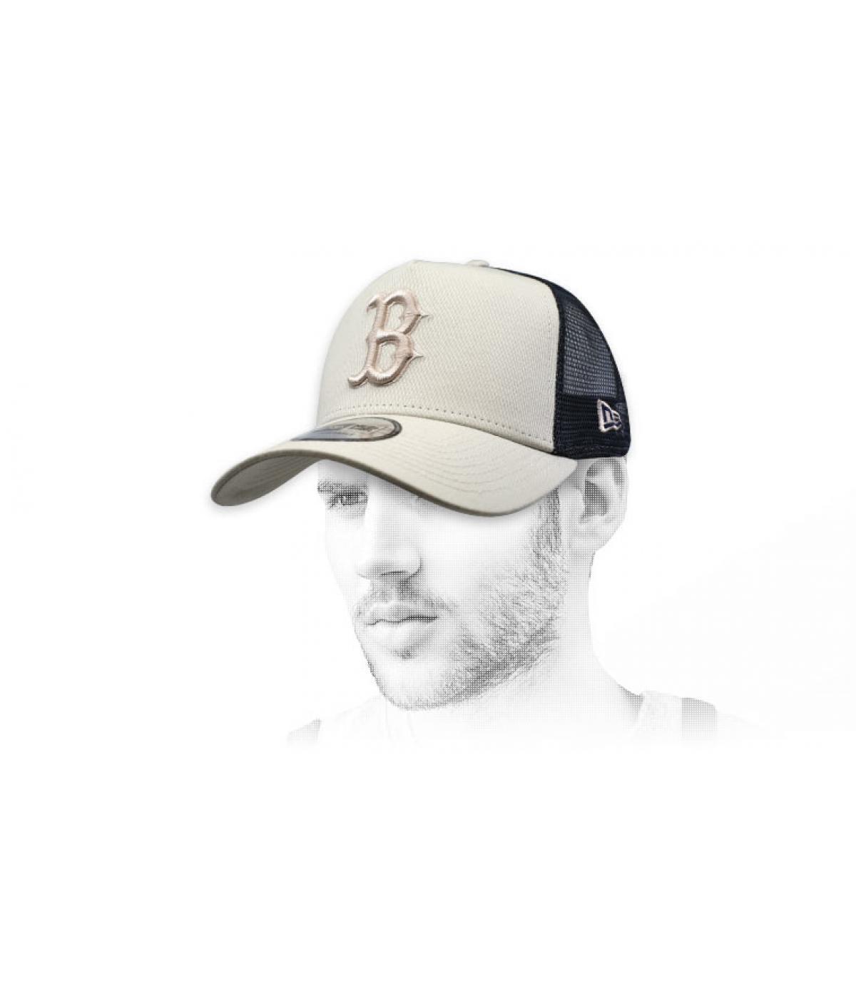 trucker B beige zwart