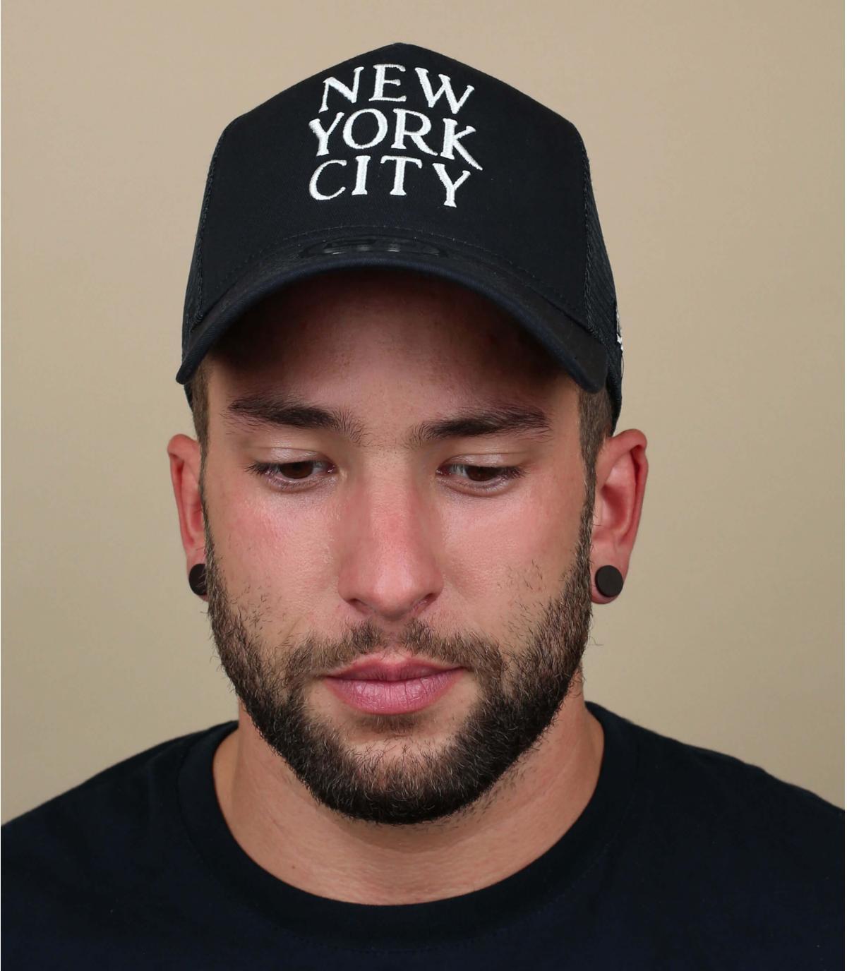 zwarte New York trucker