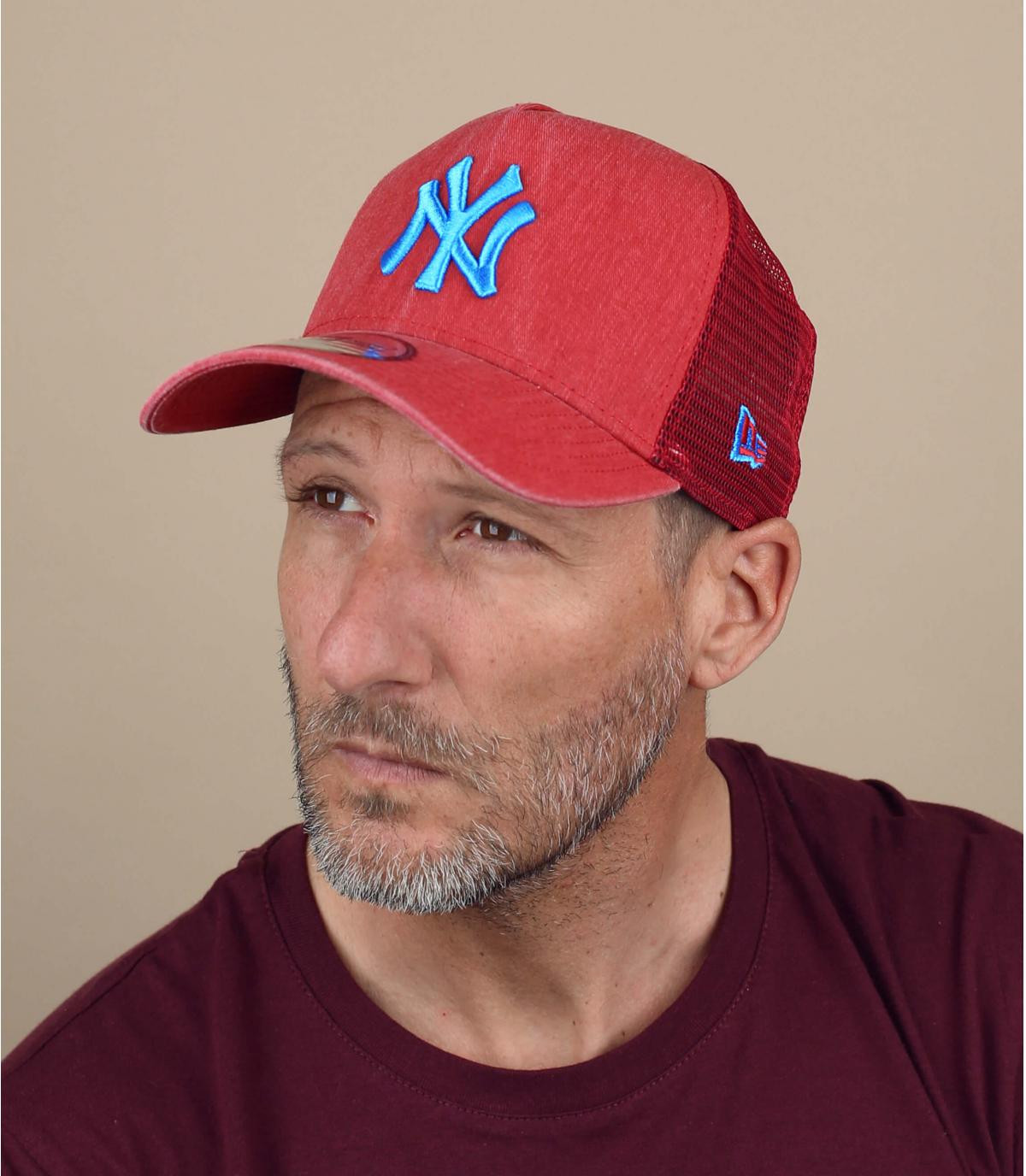 blauwe rode trucker NY