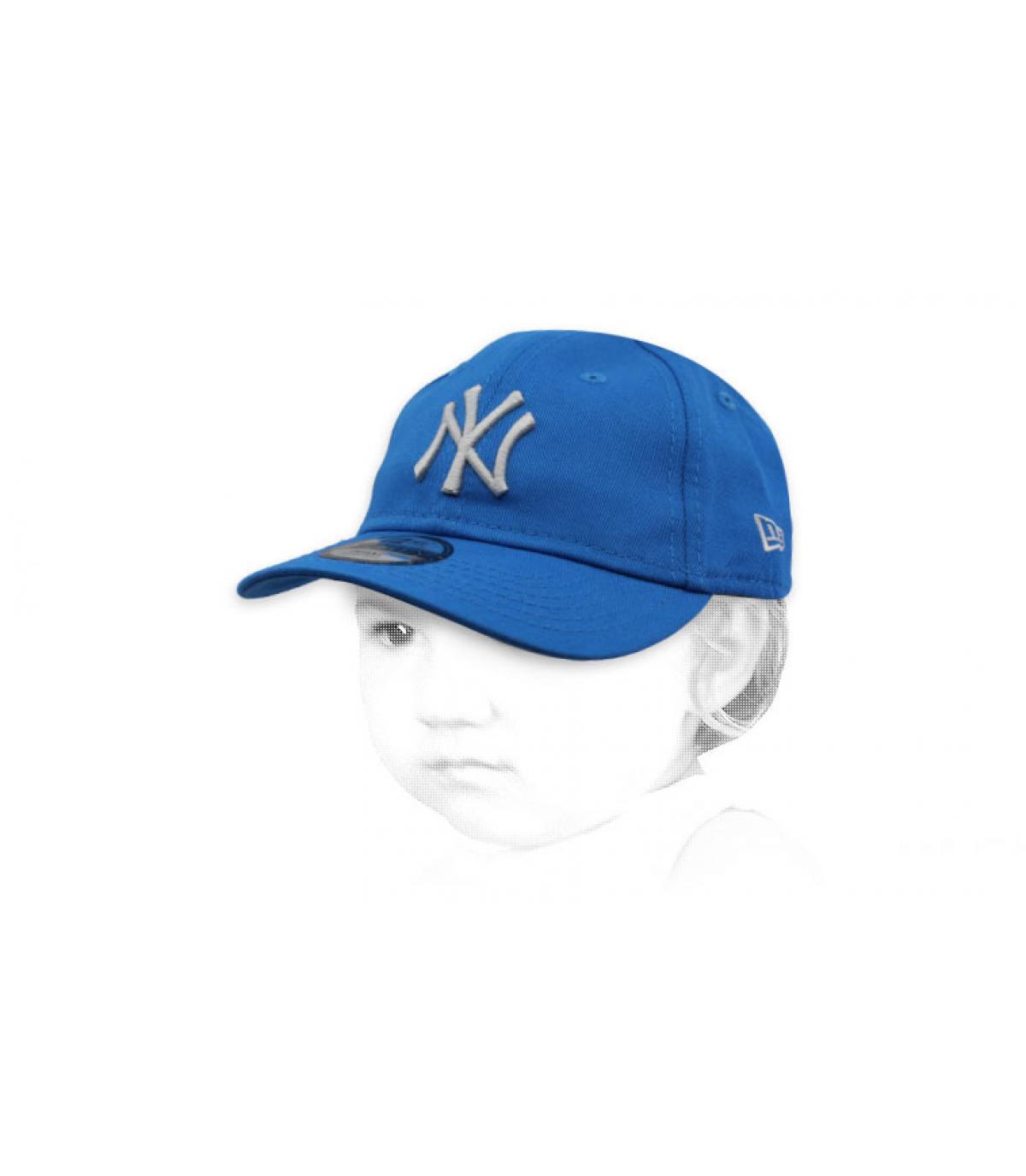 blauwe NY baby cap