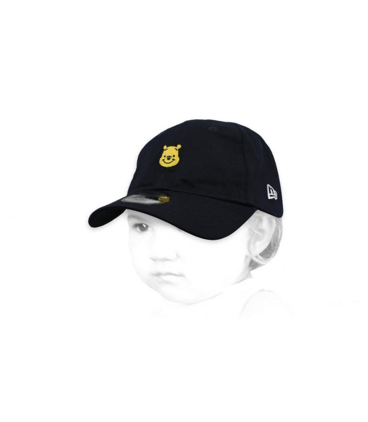 Winnie zwarte baby cap