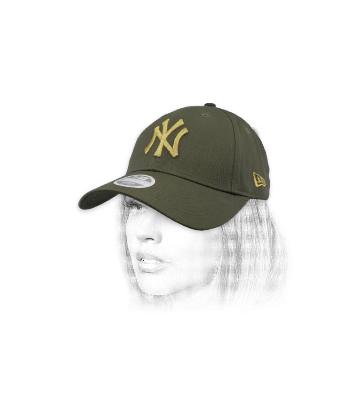 NY cap kind groen goud