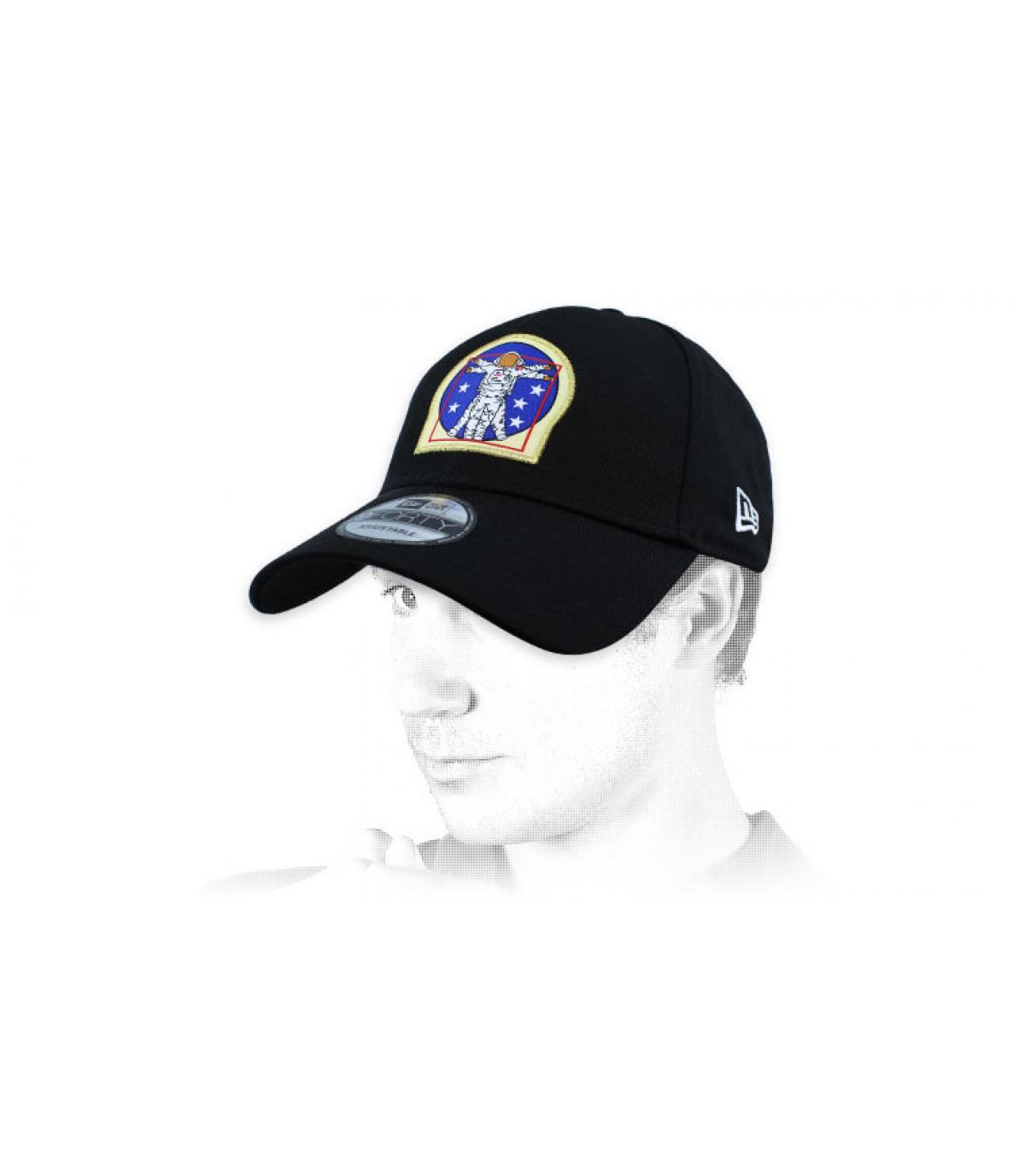 zwarte kosmonaut cap
