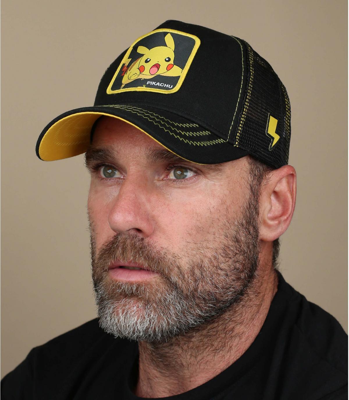 zwarte pikachu cap