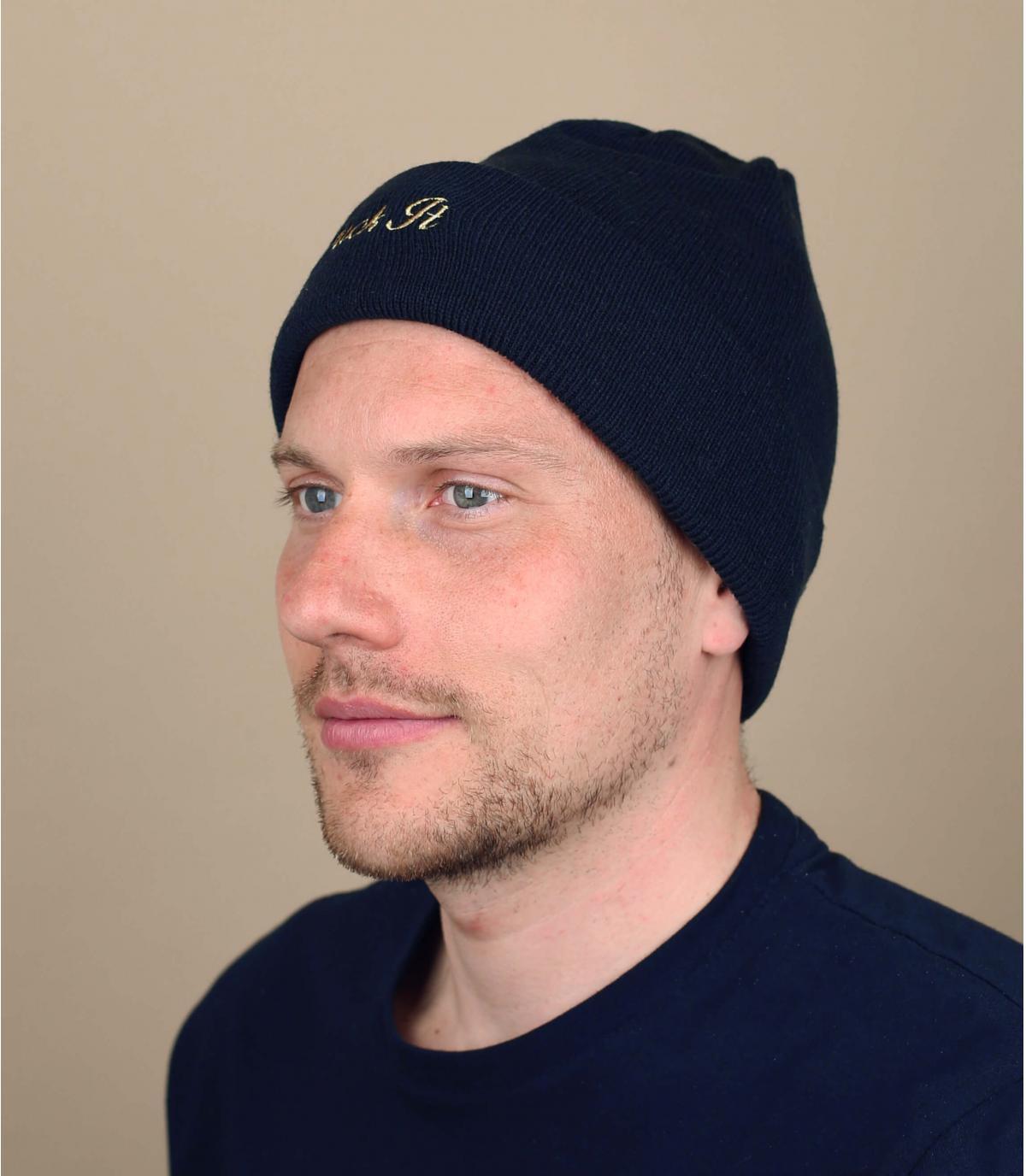 Huf omkeerbare hoed blauw