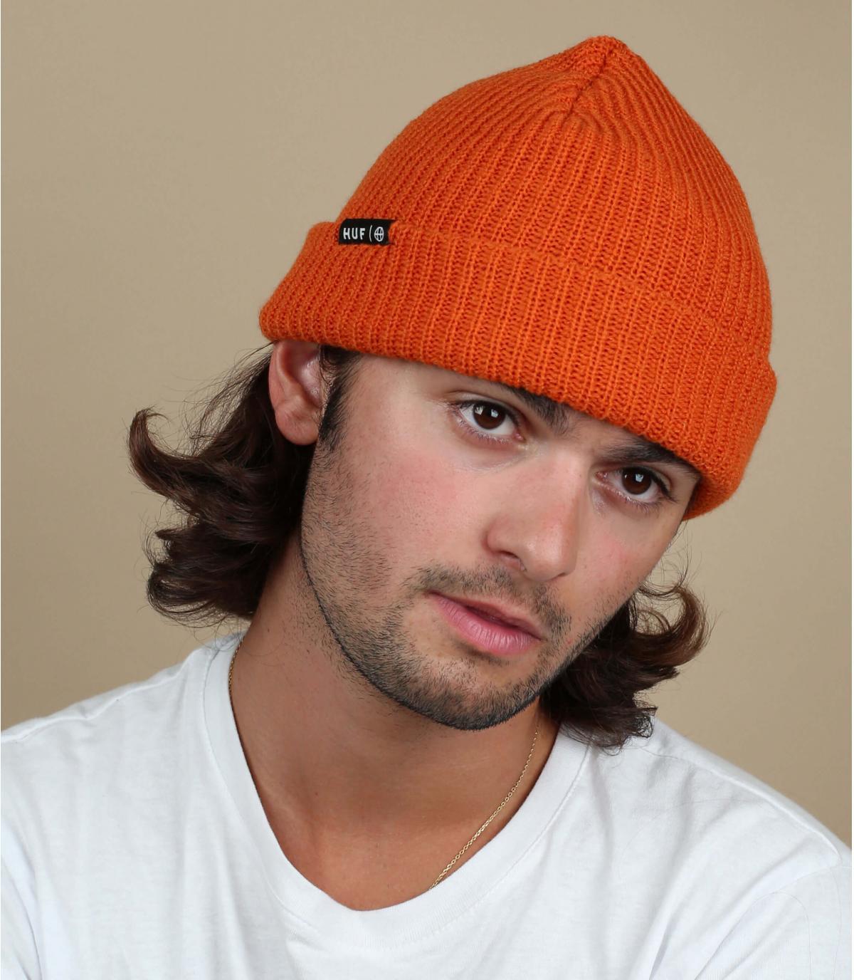 Huf oranje revers hoed