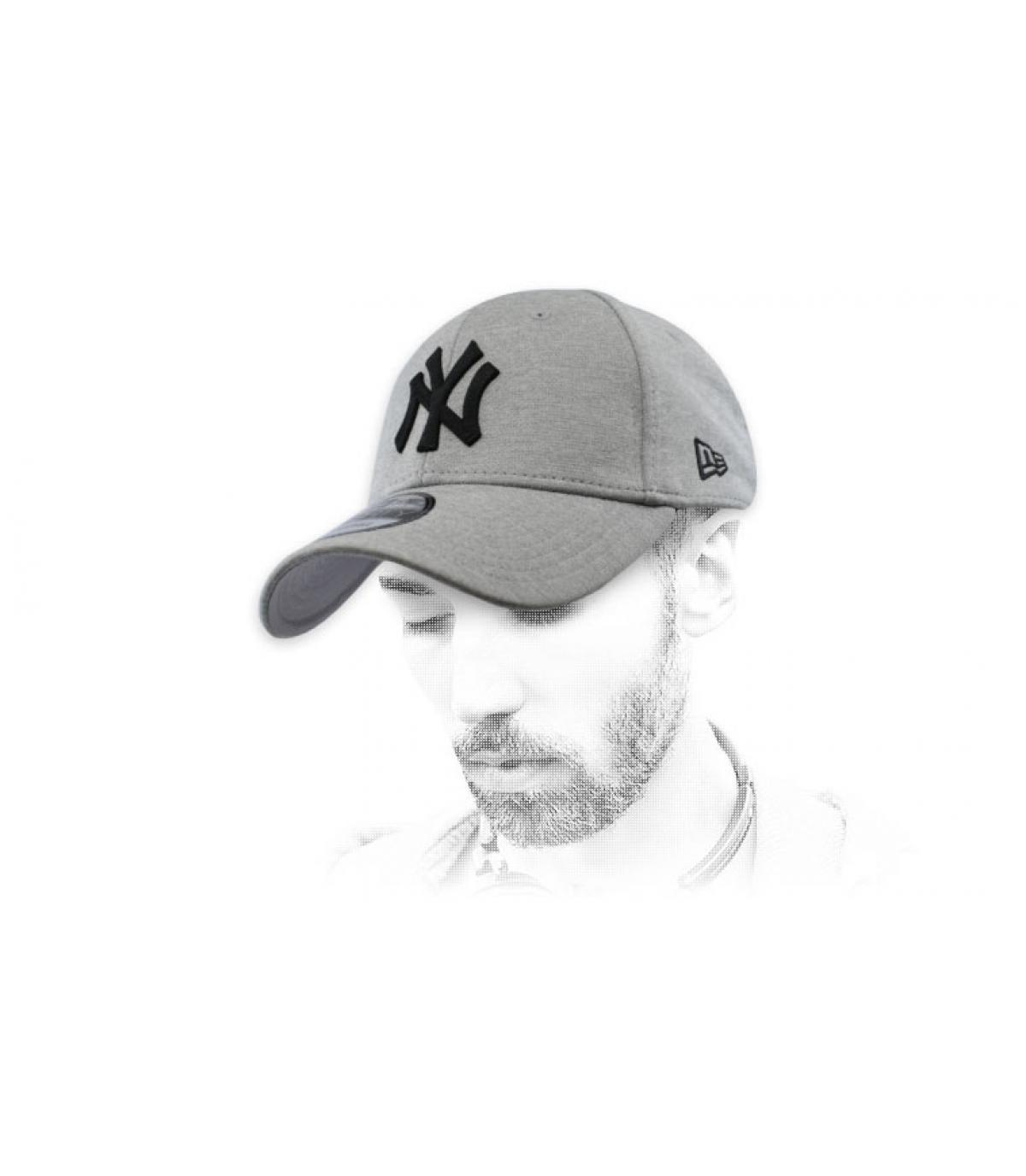 zwart grijze NY cap