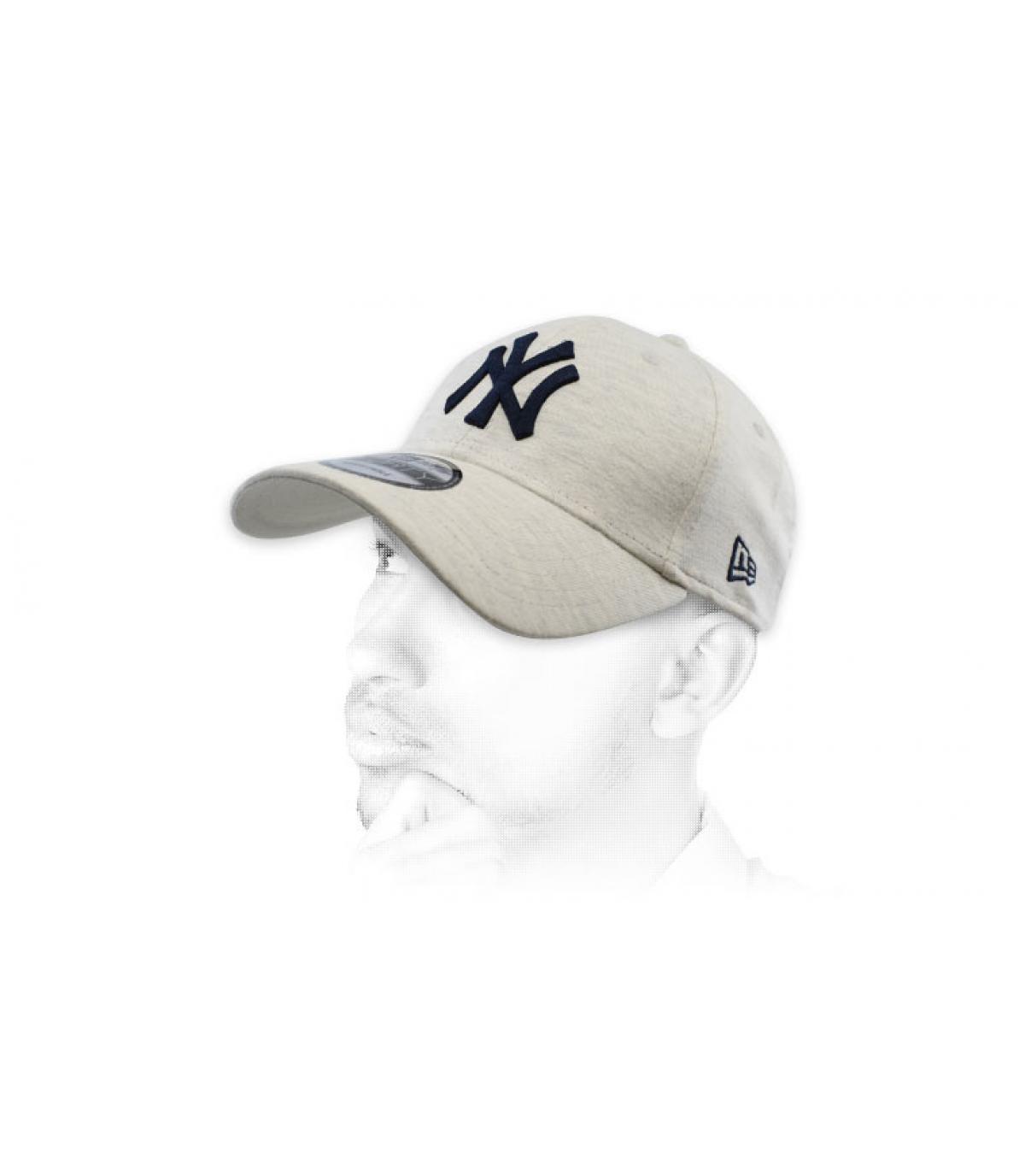 blauw grijze NY cap