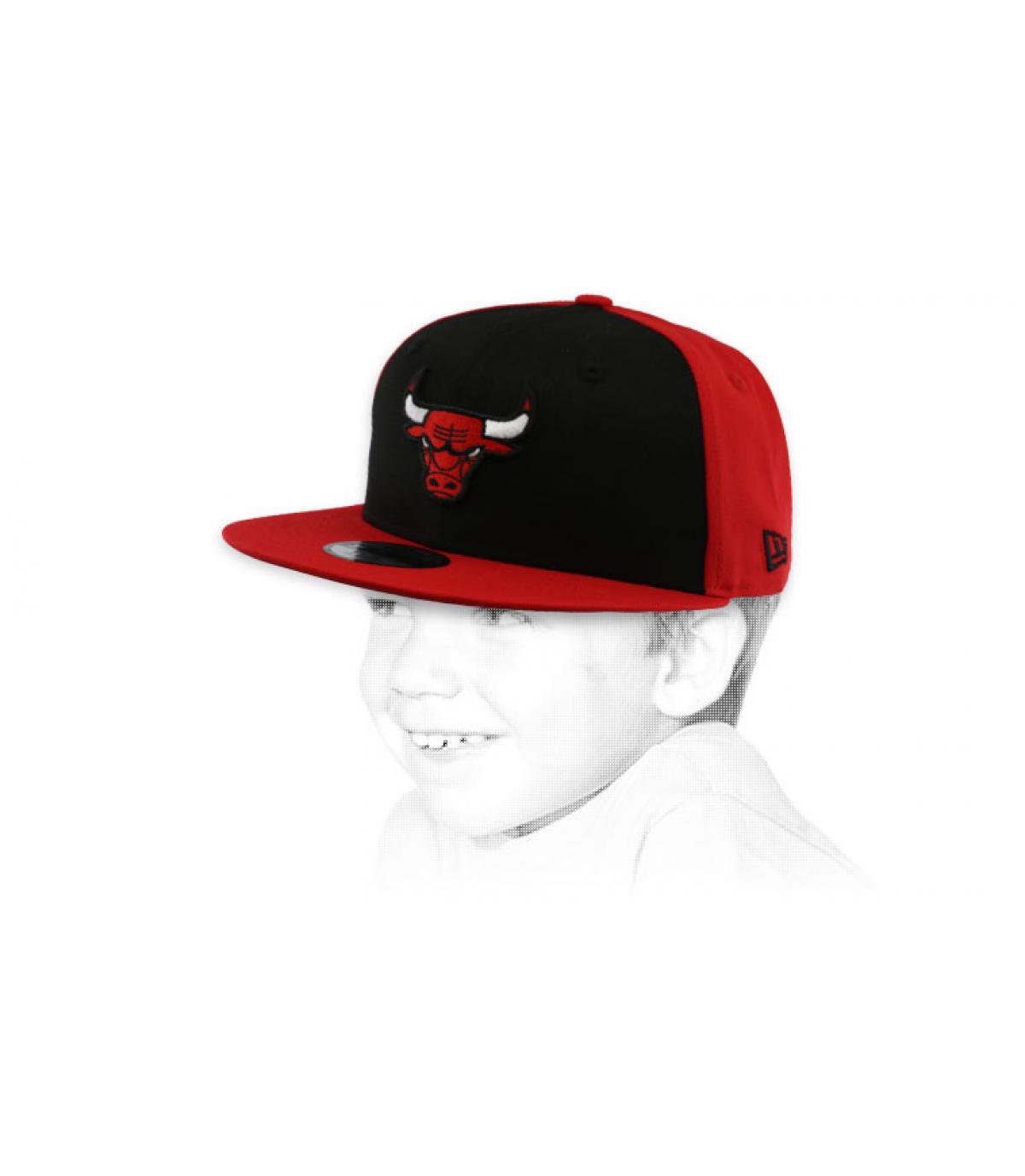 snapback Bulls rood zwart