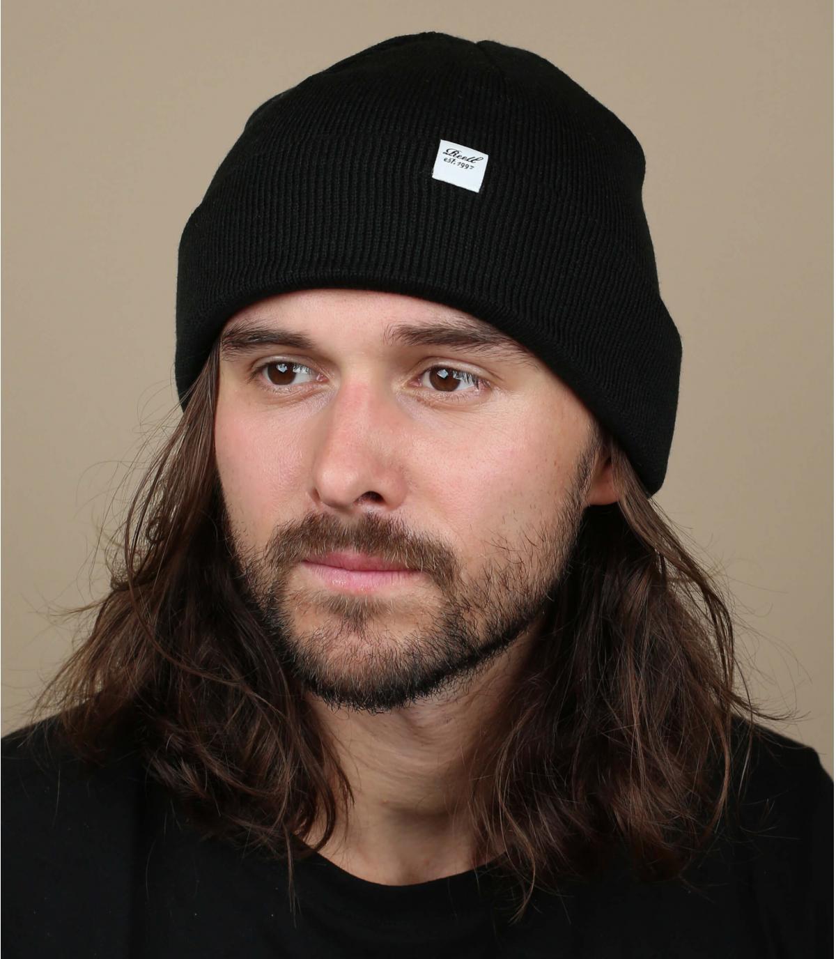 zwarte omkeerbare hoed Reell