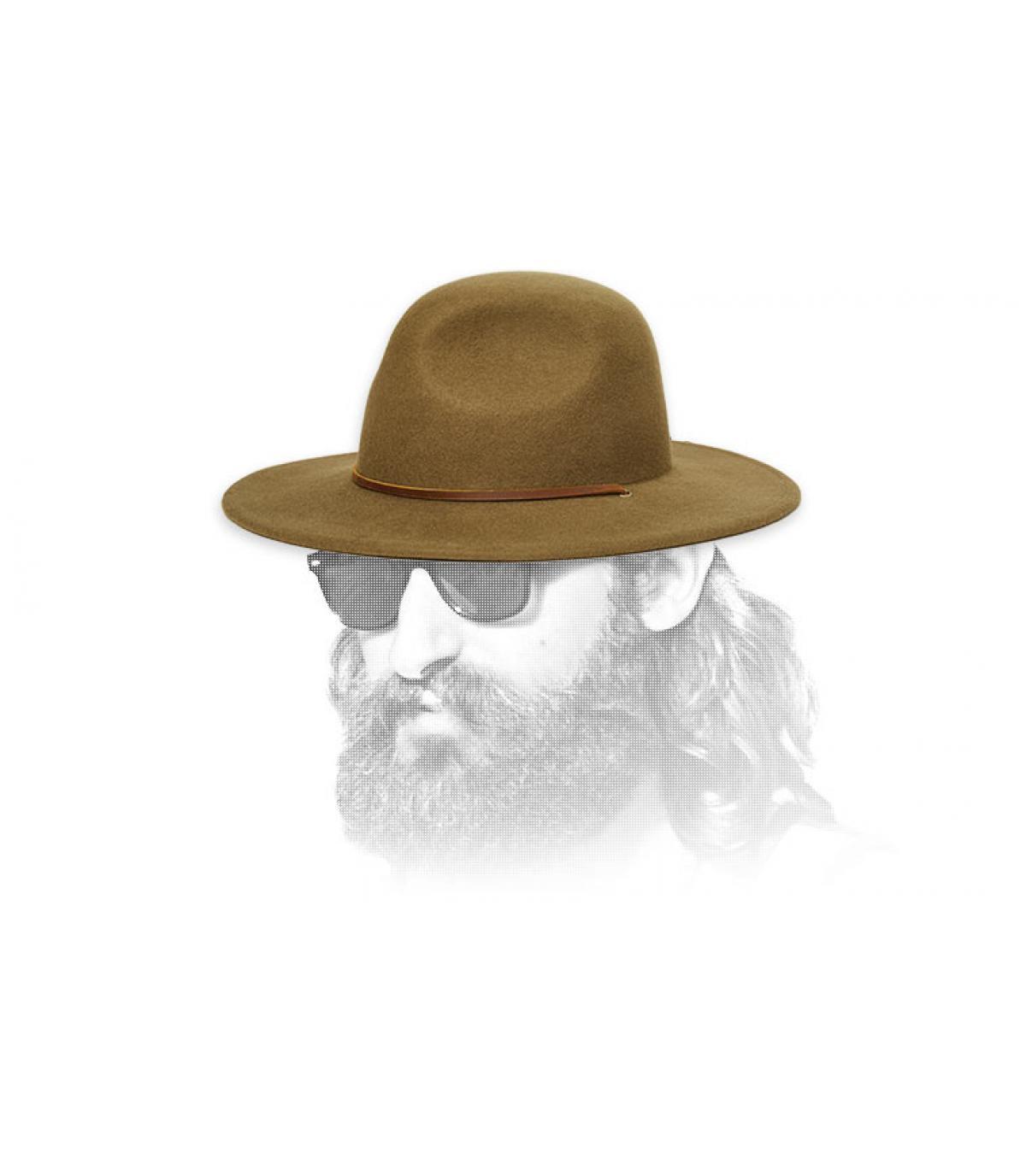 olijfvilt hoed