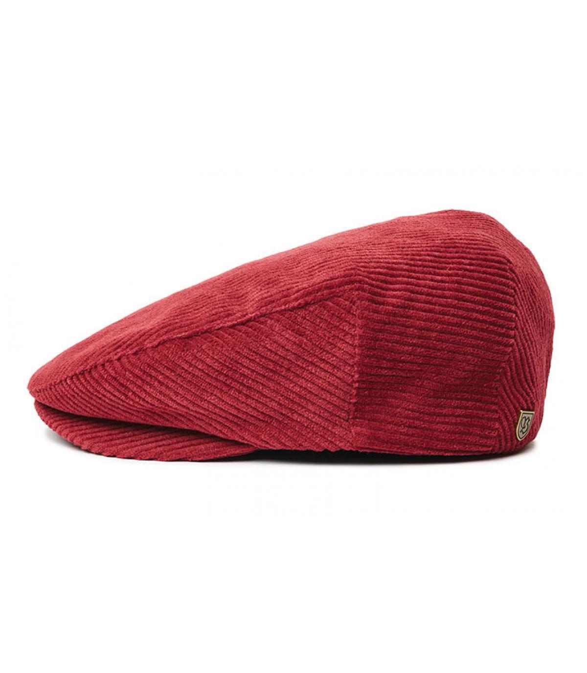 bordeaux fluweel baret