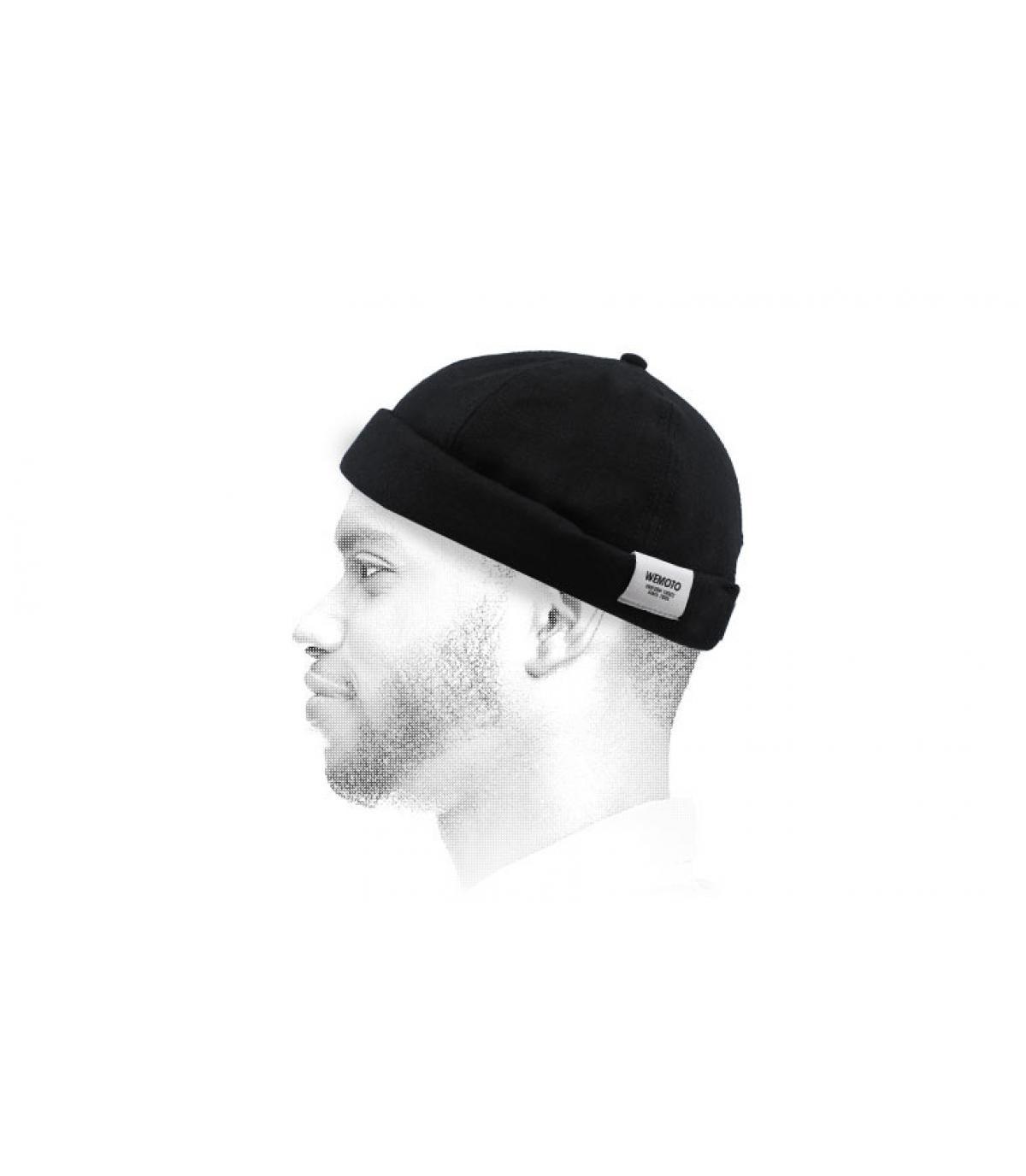 zwarte docker hoed Wemoto