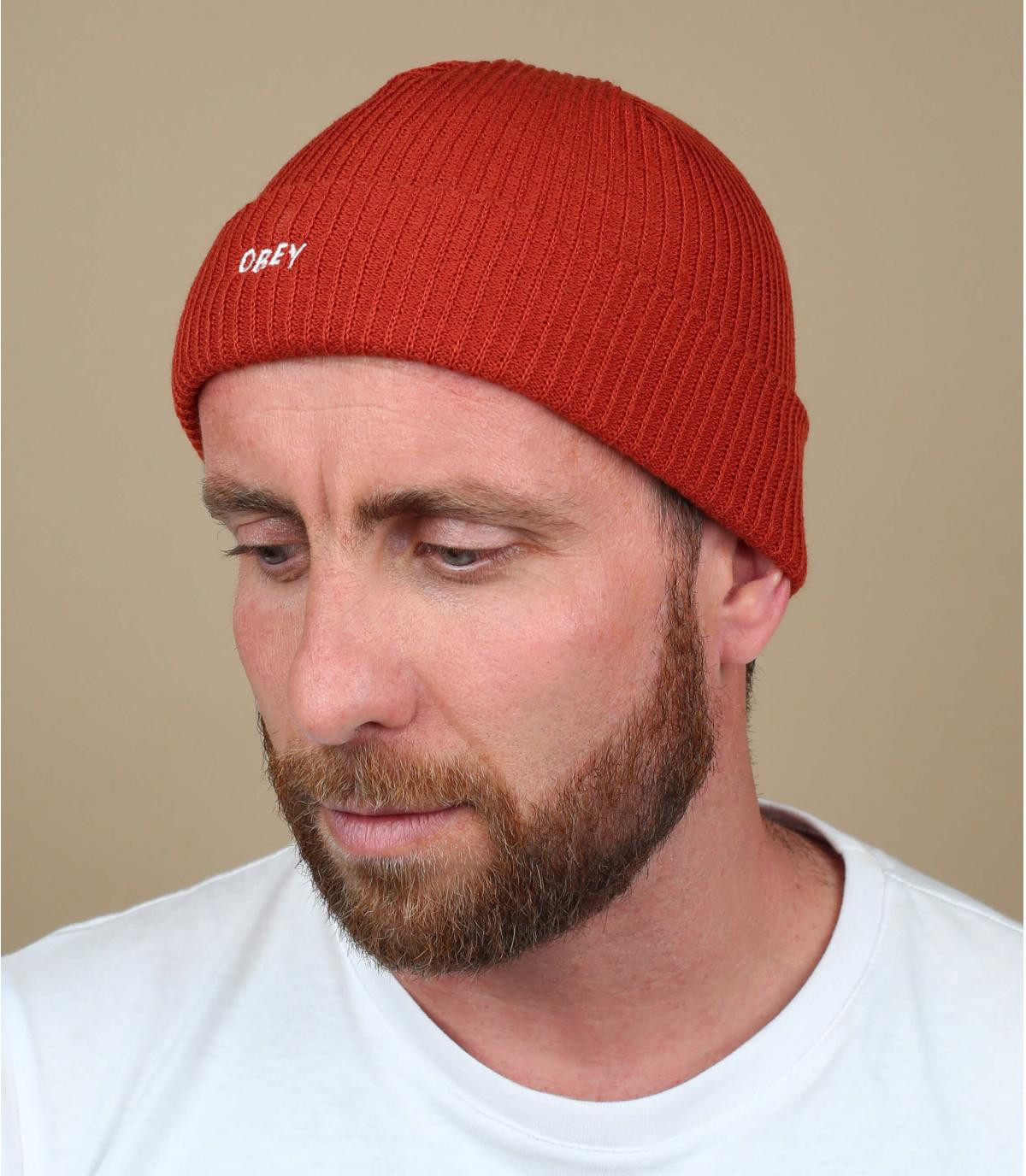 Obey Red Beanie Hat
