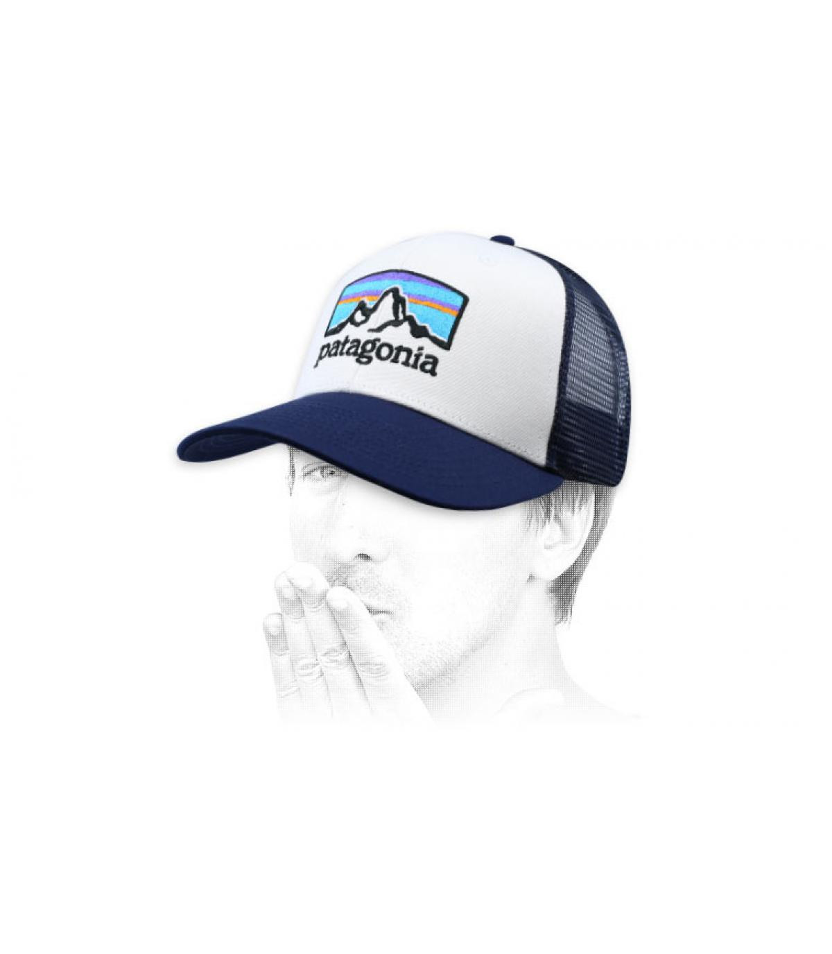 blauwe trucker Fitz Roy Patagonië