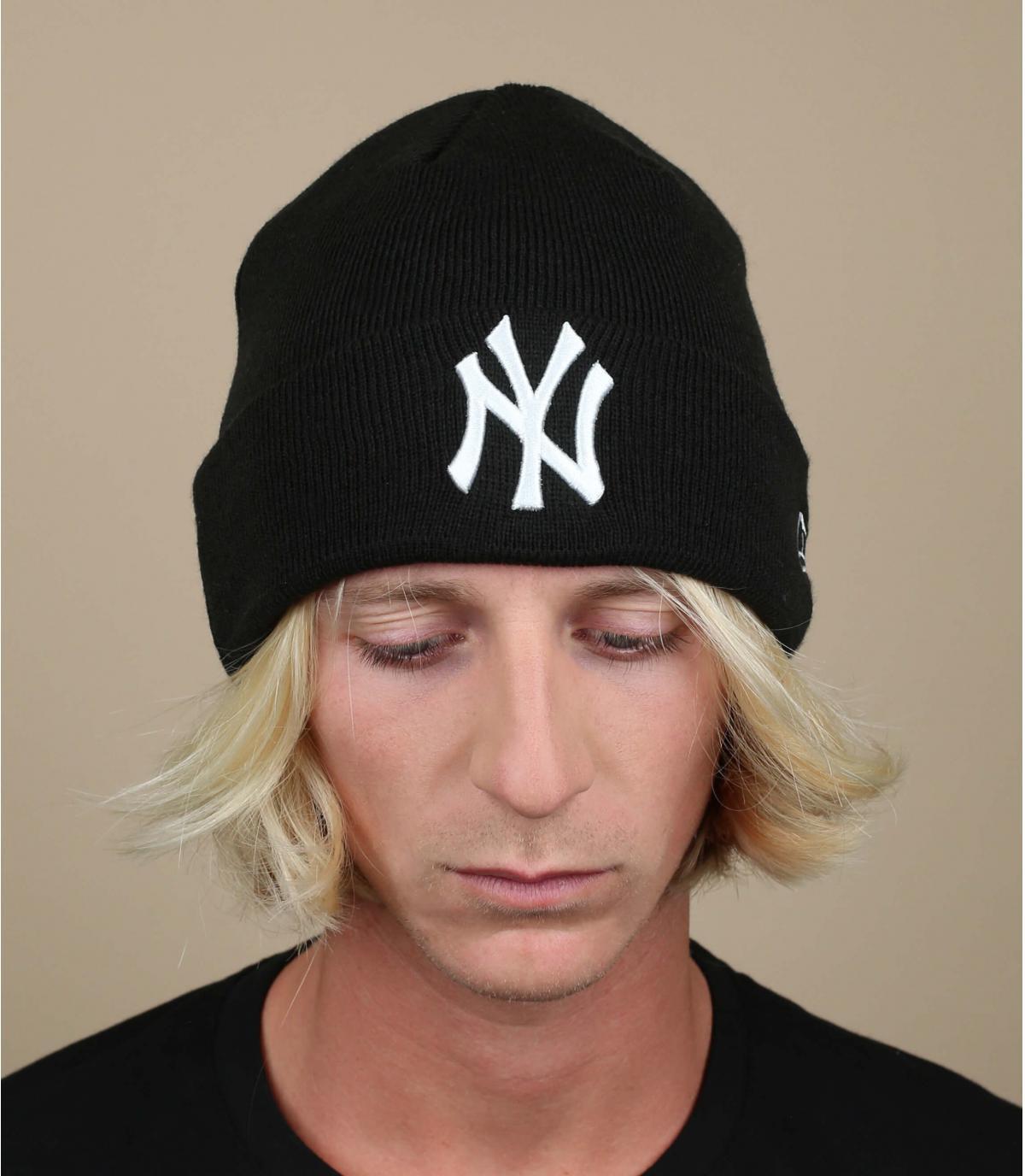 NY cap wit zwart revers